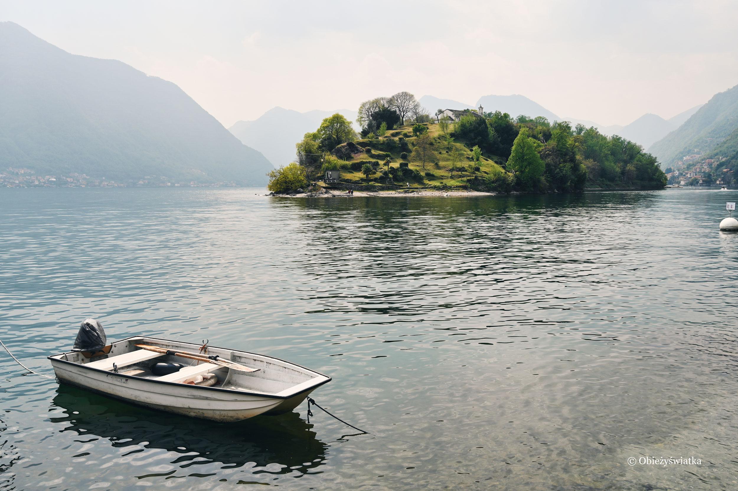 Otulona mgłą Isola Comacina, Lago di Como
