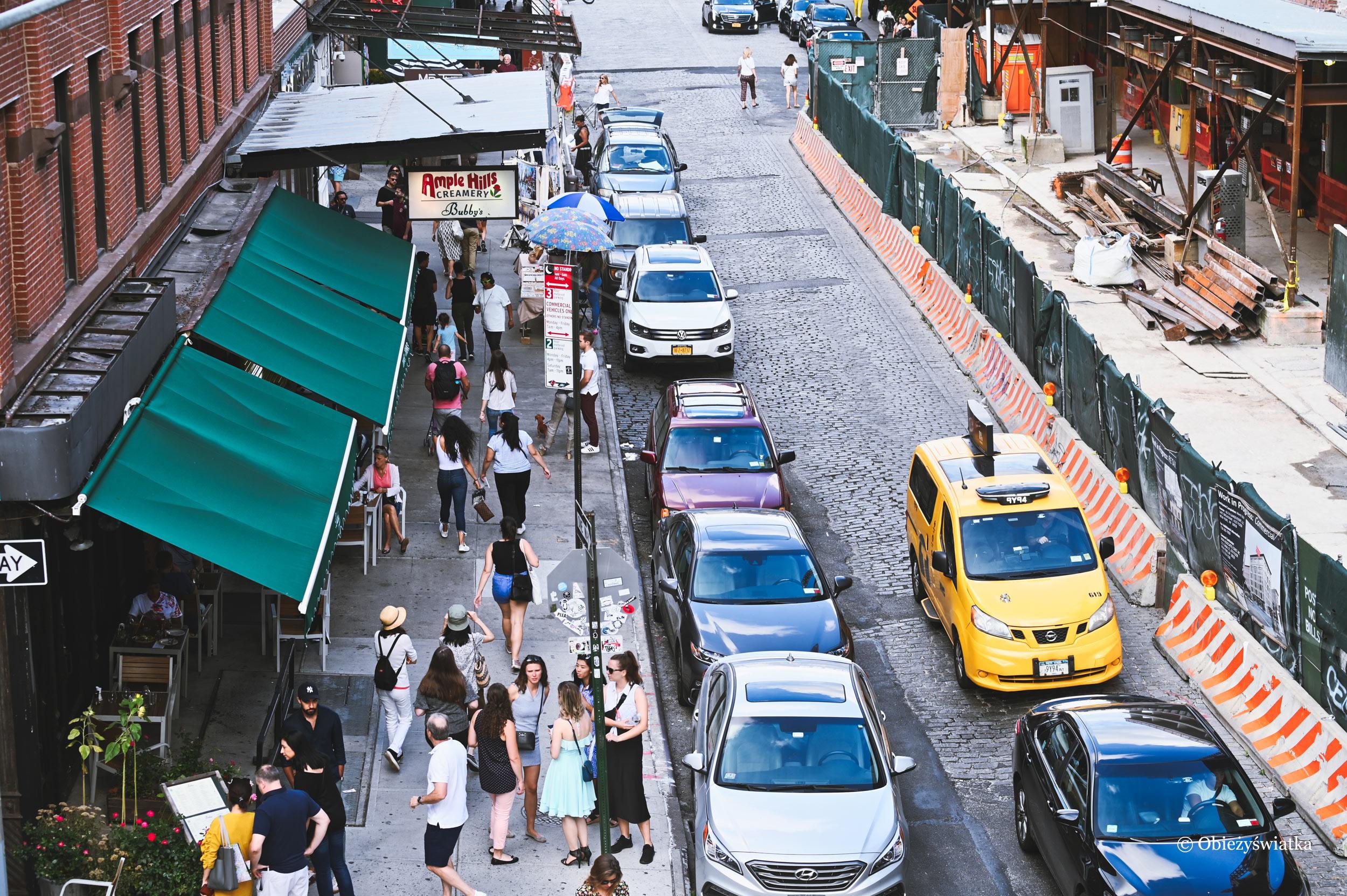 Nowojorskie ulice - widok z parku The High Line