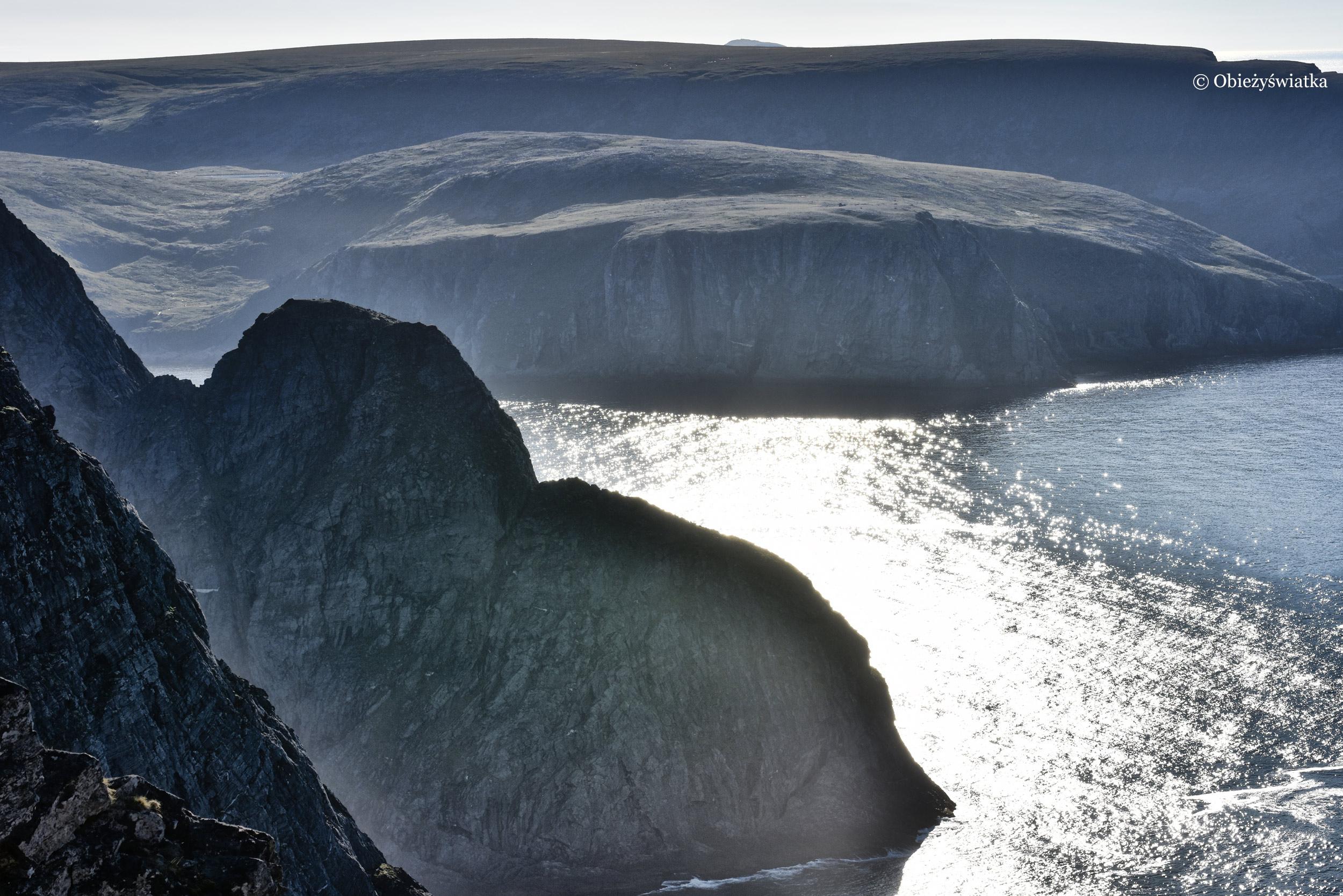 Widok na Ocean Arktyczny z Przylądka Północnego, Nordkapp, Norwegia