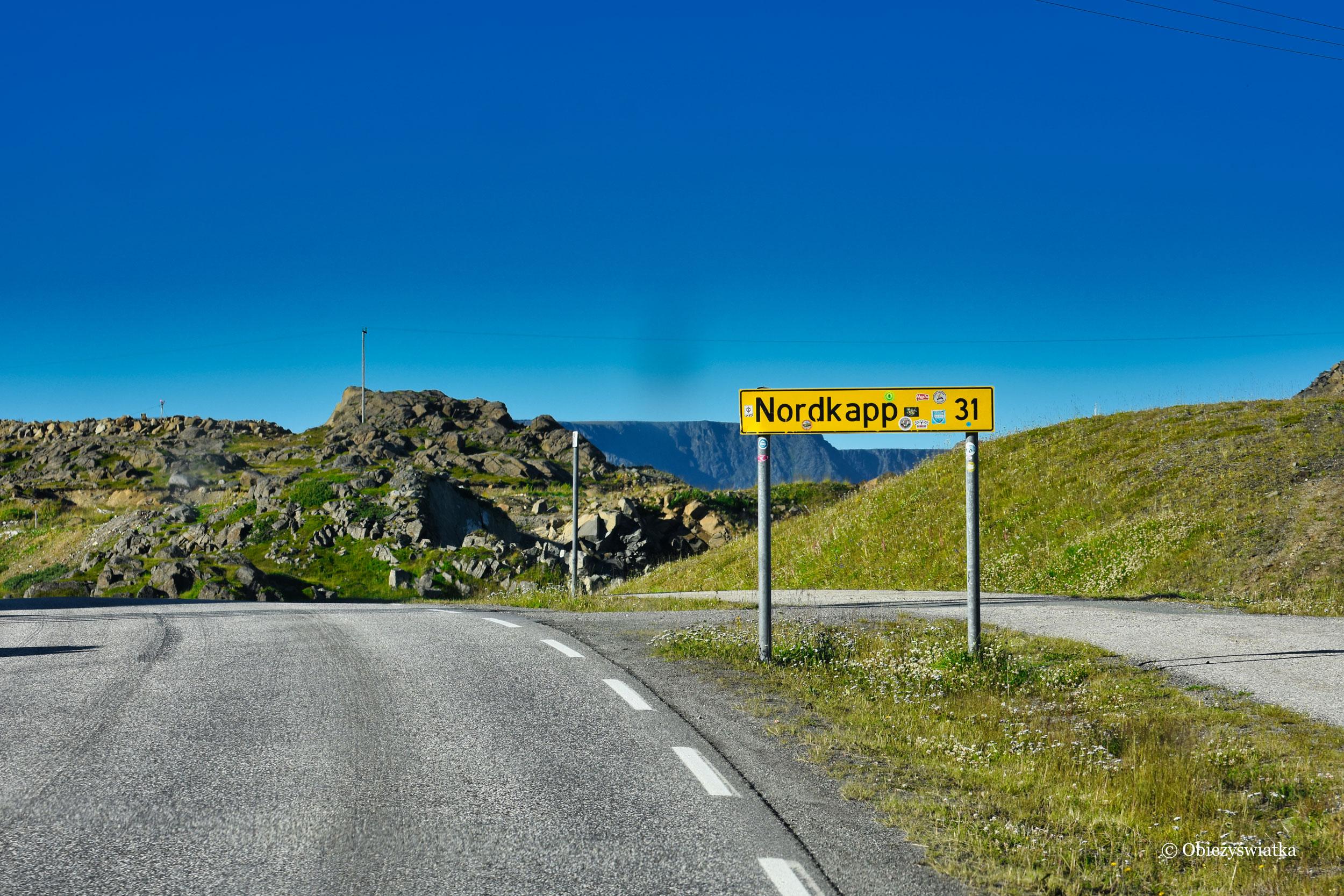 Jeszcze tylko 31 kilometrów do Nordkappu, Norwegia