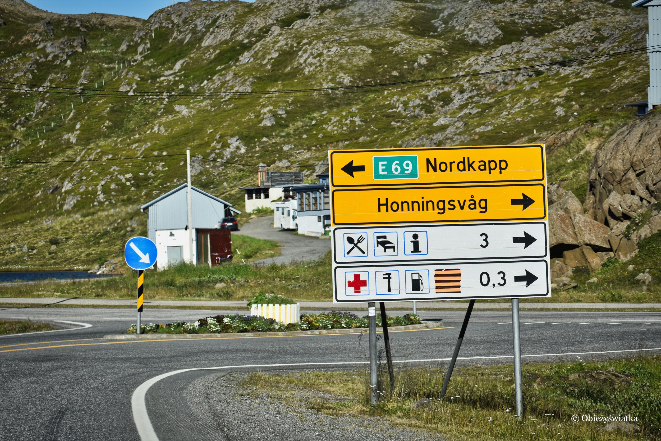 Na lewo Nordkapp, Norwegia