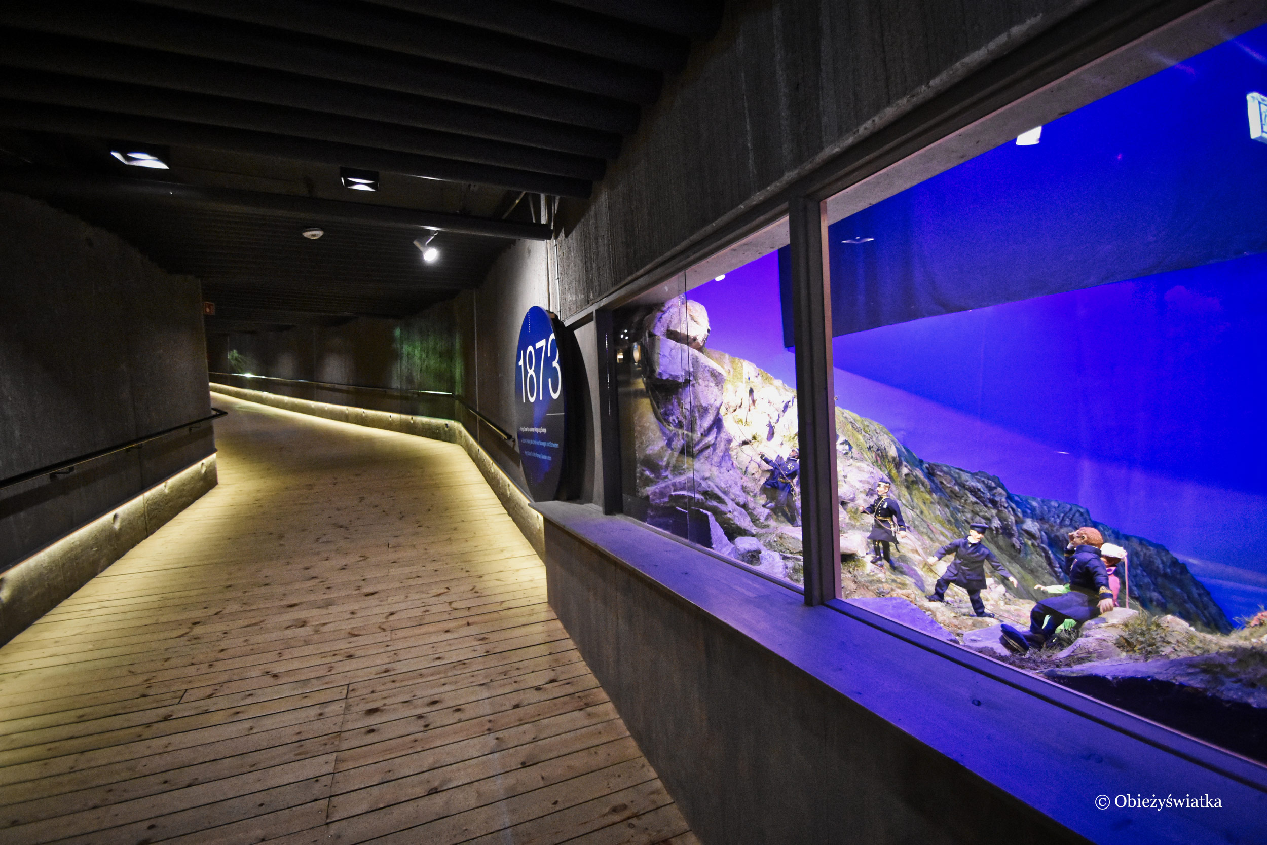 Podziemne muzeum w hali Nordkappu, Norwegia