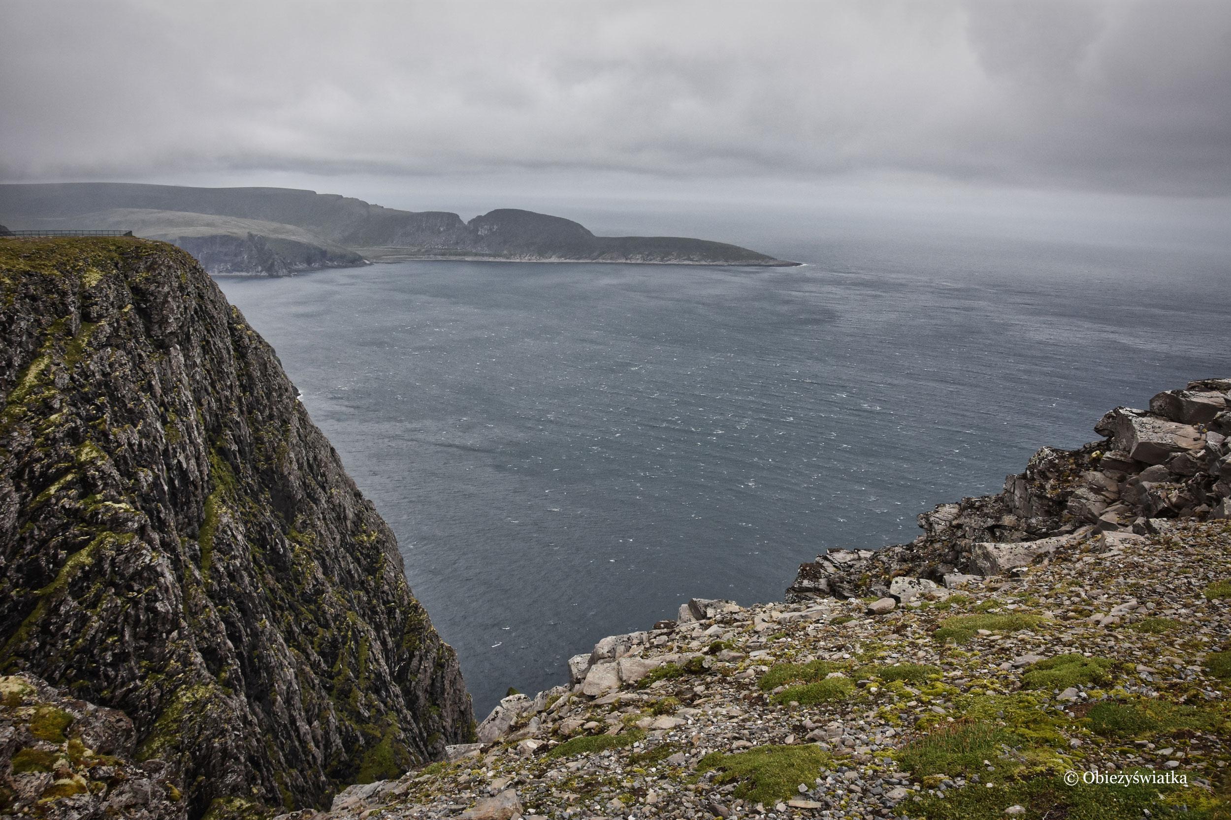 Widok z Nordkappu, Norwegia