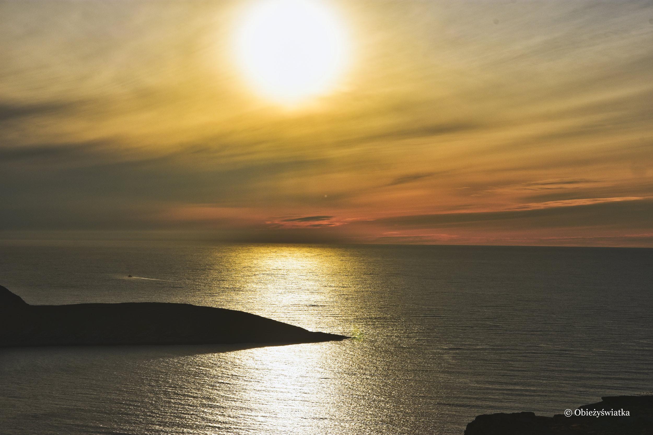Zachód słońca i Nordkapp