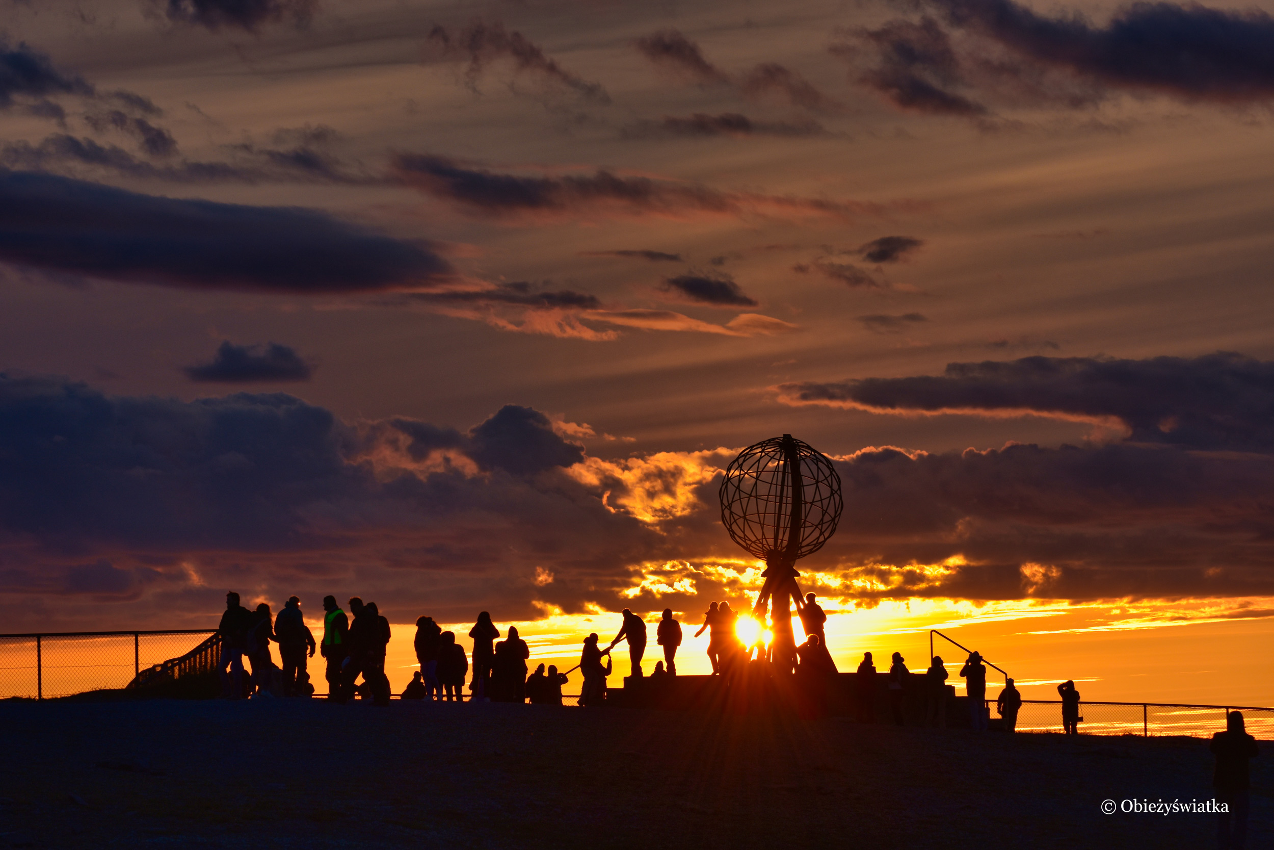 O zachodzie słońca, Nordkapp, Przylądek Północny