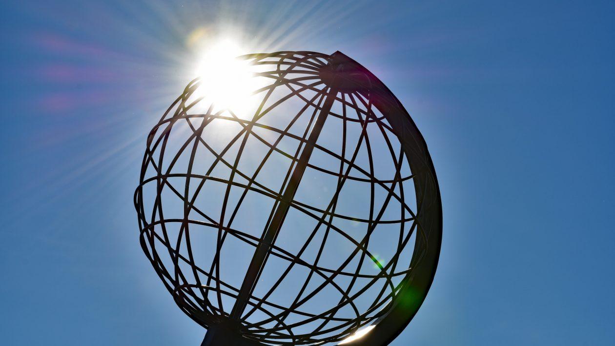 Nordkapp i globus