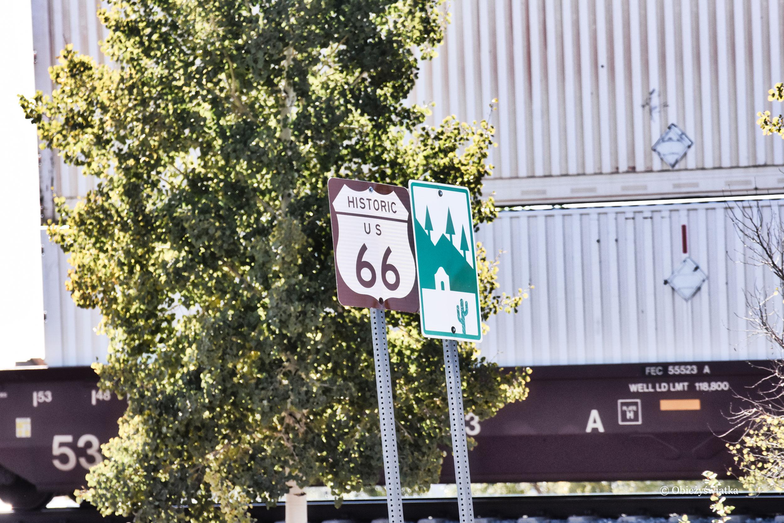 Route 66 - szyld w Arizonie