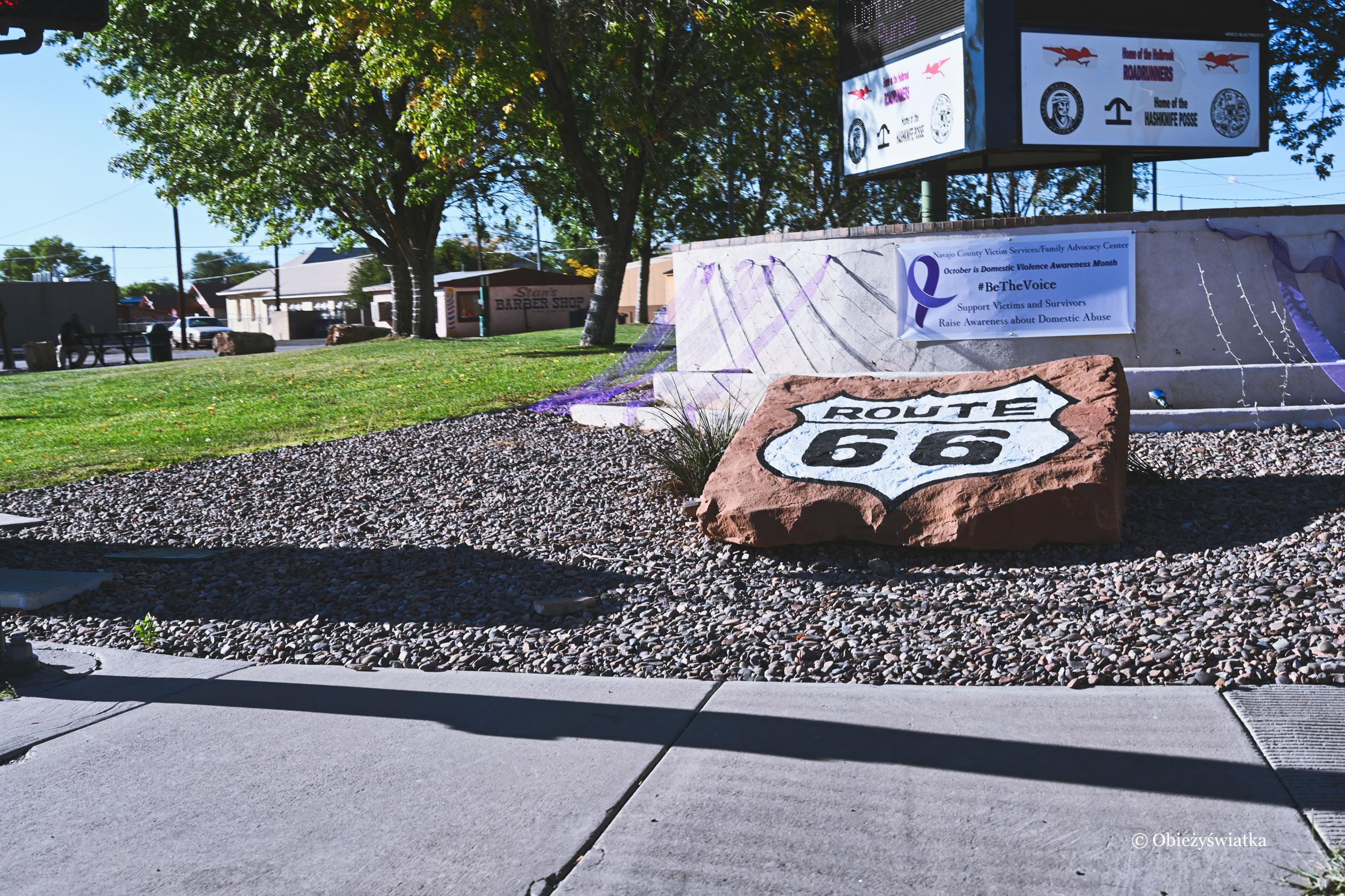 Route 66 - kamień przydrożny