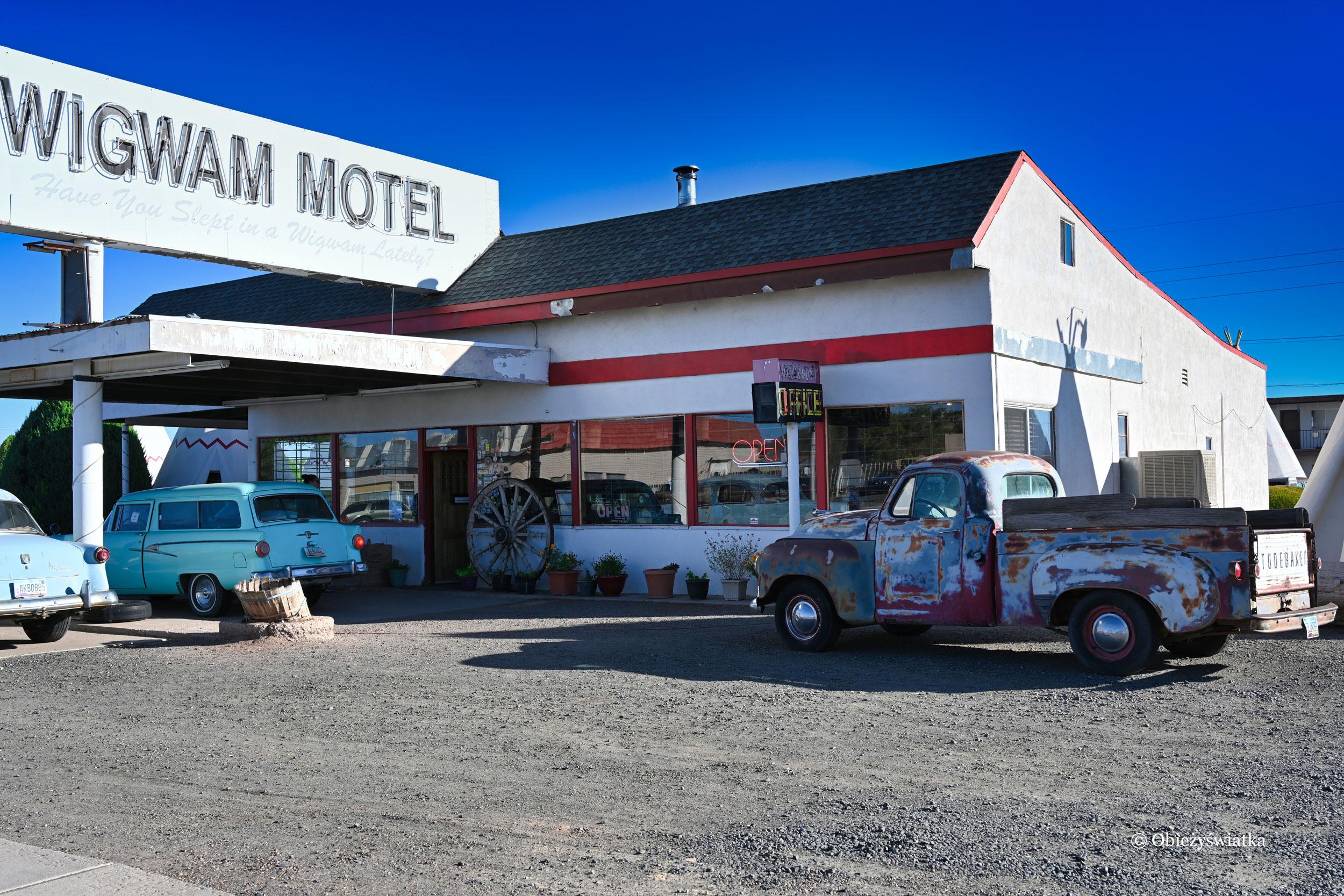 Motel Wigwam w Holbrook, Arizona na trasie Route 66
