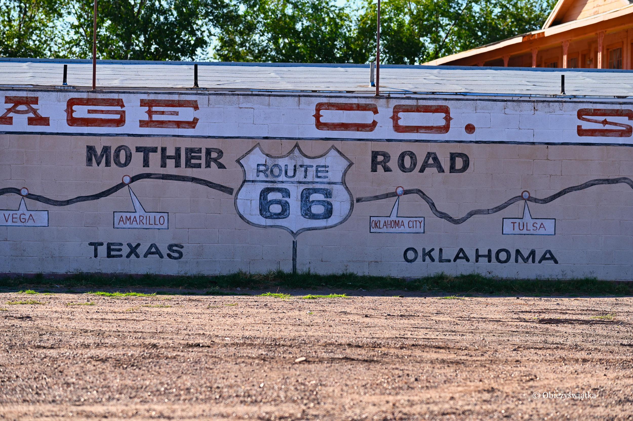 Graffiti z przebiegem Route 66
