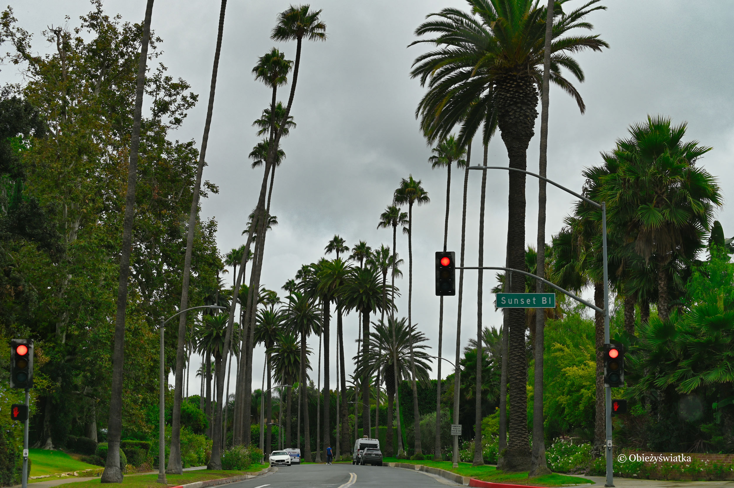 Sunset Boulevard, Los Angeles - część drogi 66