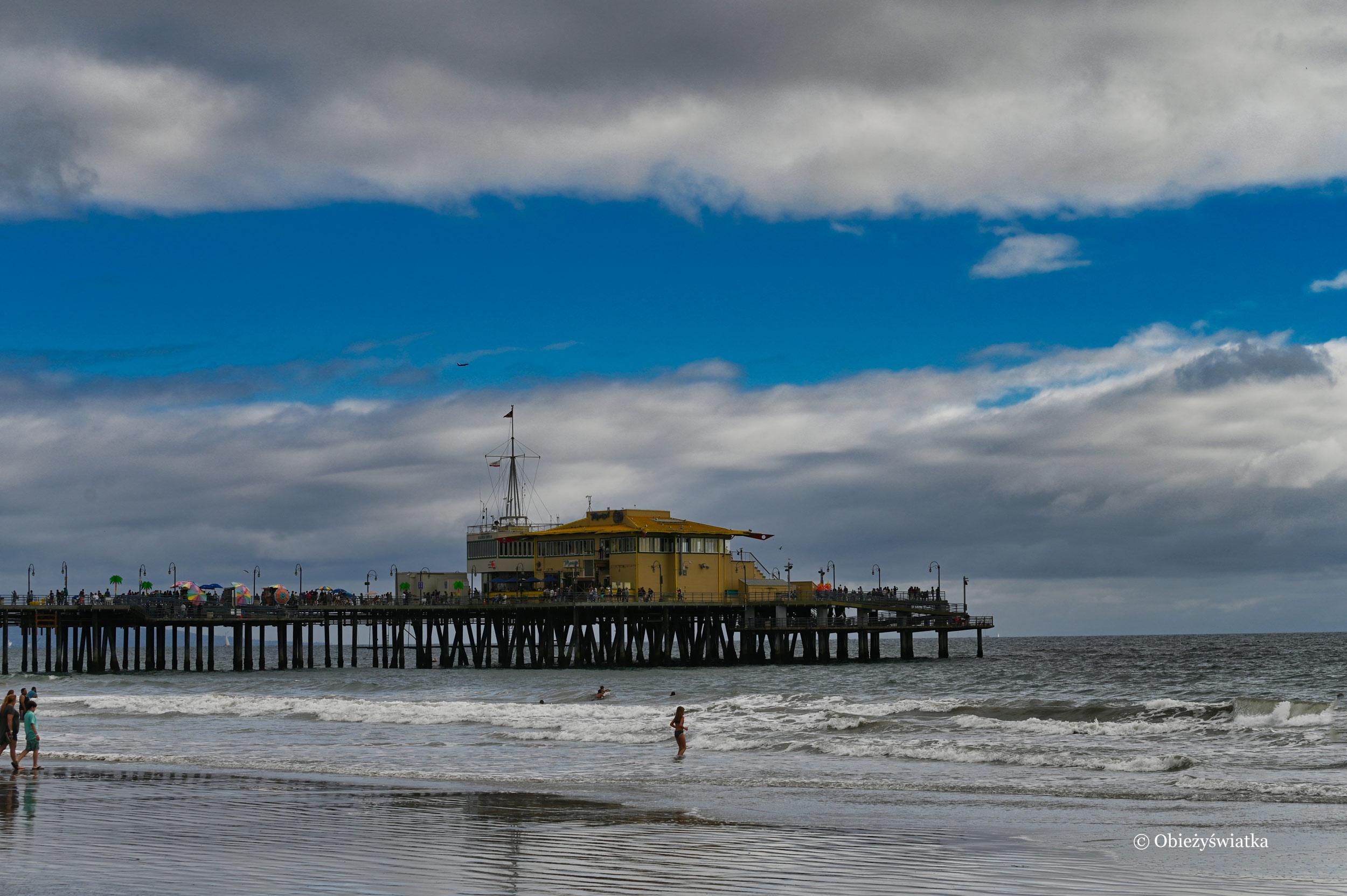 Molo w Santa Monica nad Pacyfikiem, koniec Route 66
