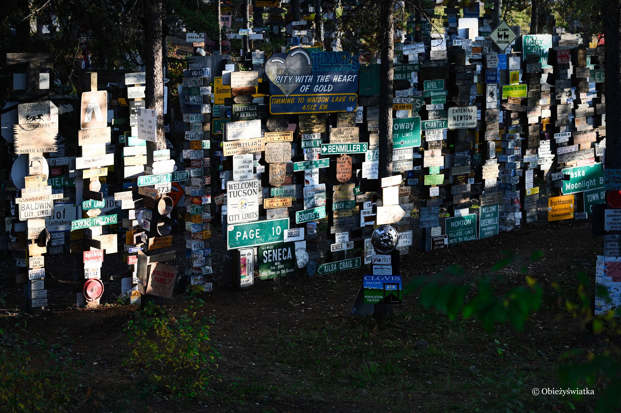 Przeróżne szyldy w Sign Post Forest, Watson Lake