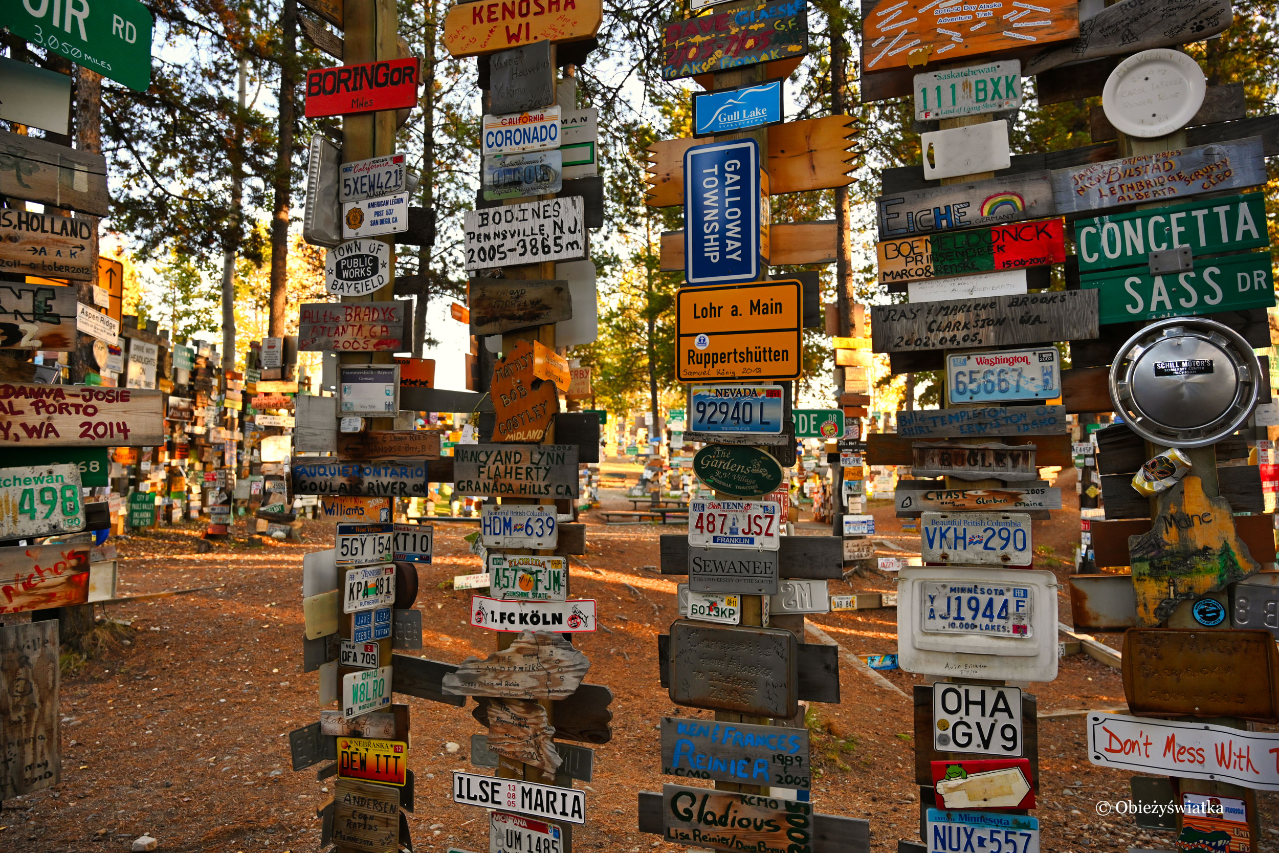 Watson Lake i Sign Post Forest