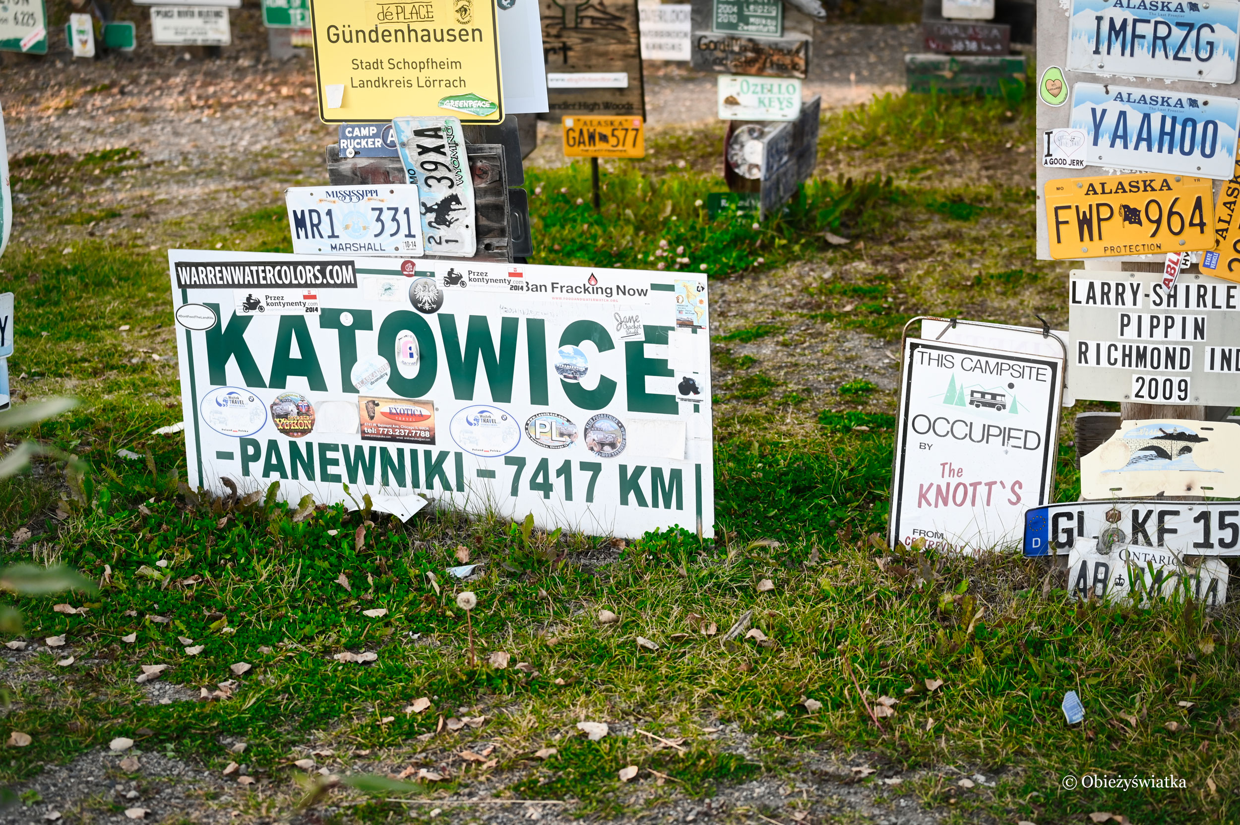 Są Katowicie! - Sign Post Forest, Watson Lake