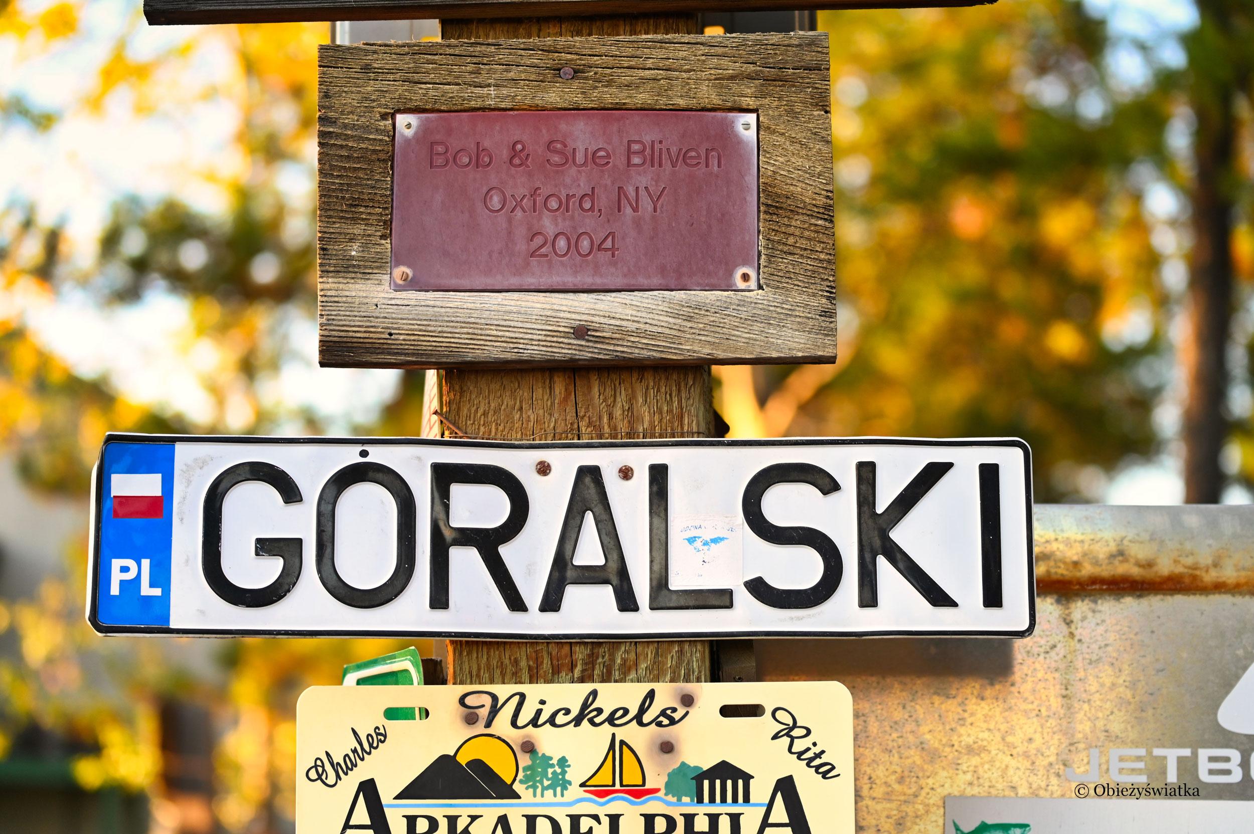 Polskie ślady! :) - Sign Post Forest, Watson Lake