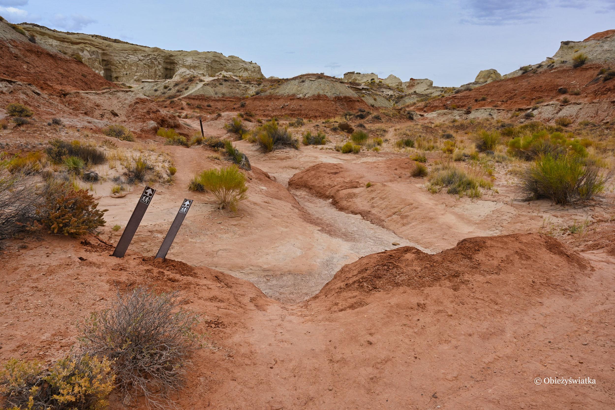 Szyldy na szlaku, Toadstools Trail, Utah