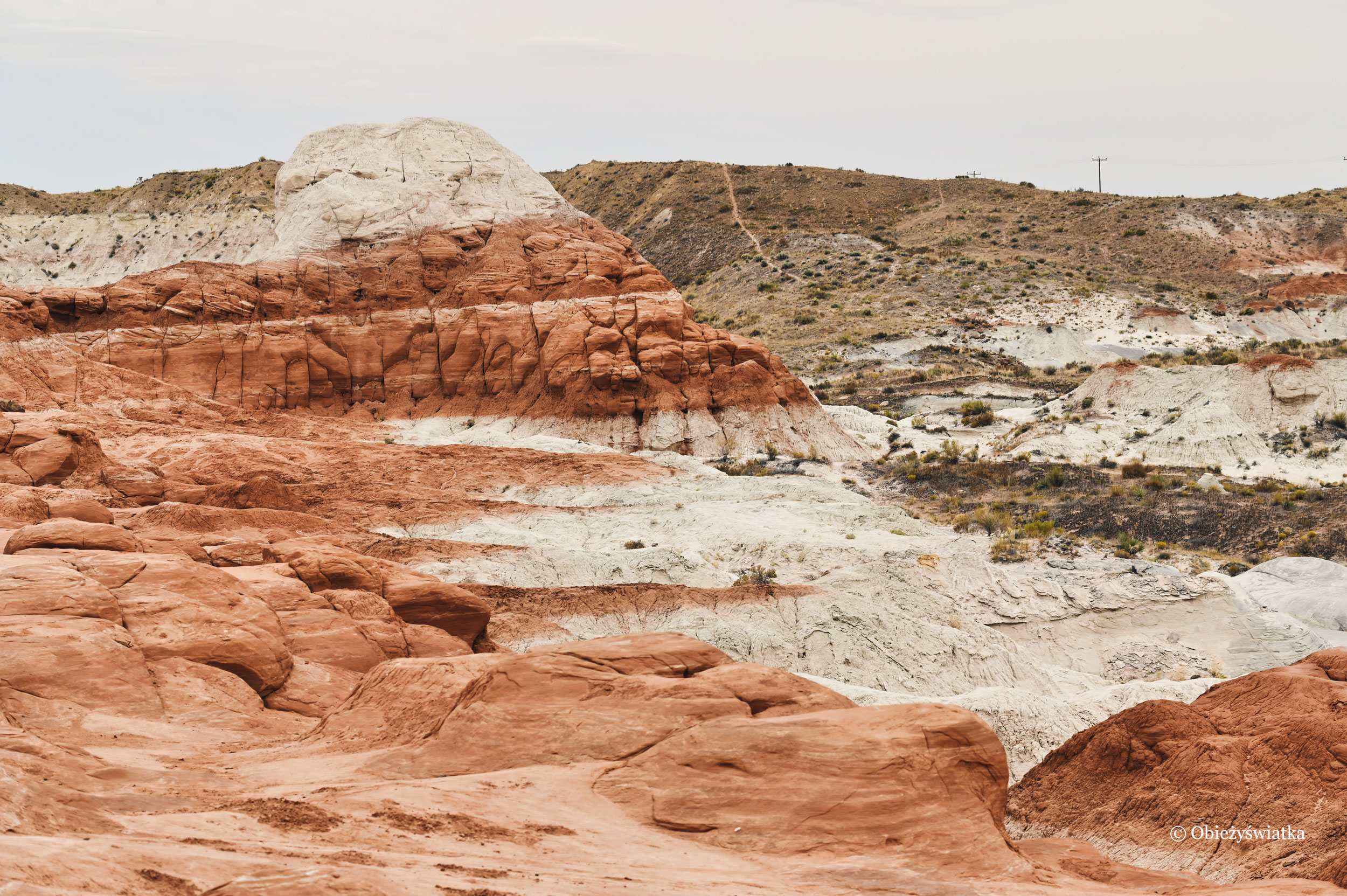 Krajobraz na szlaku, Toadstools Trail, Utah
