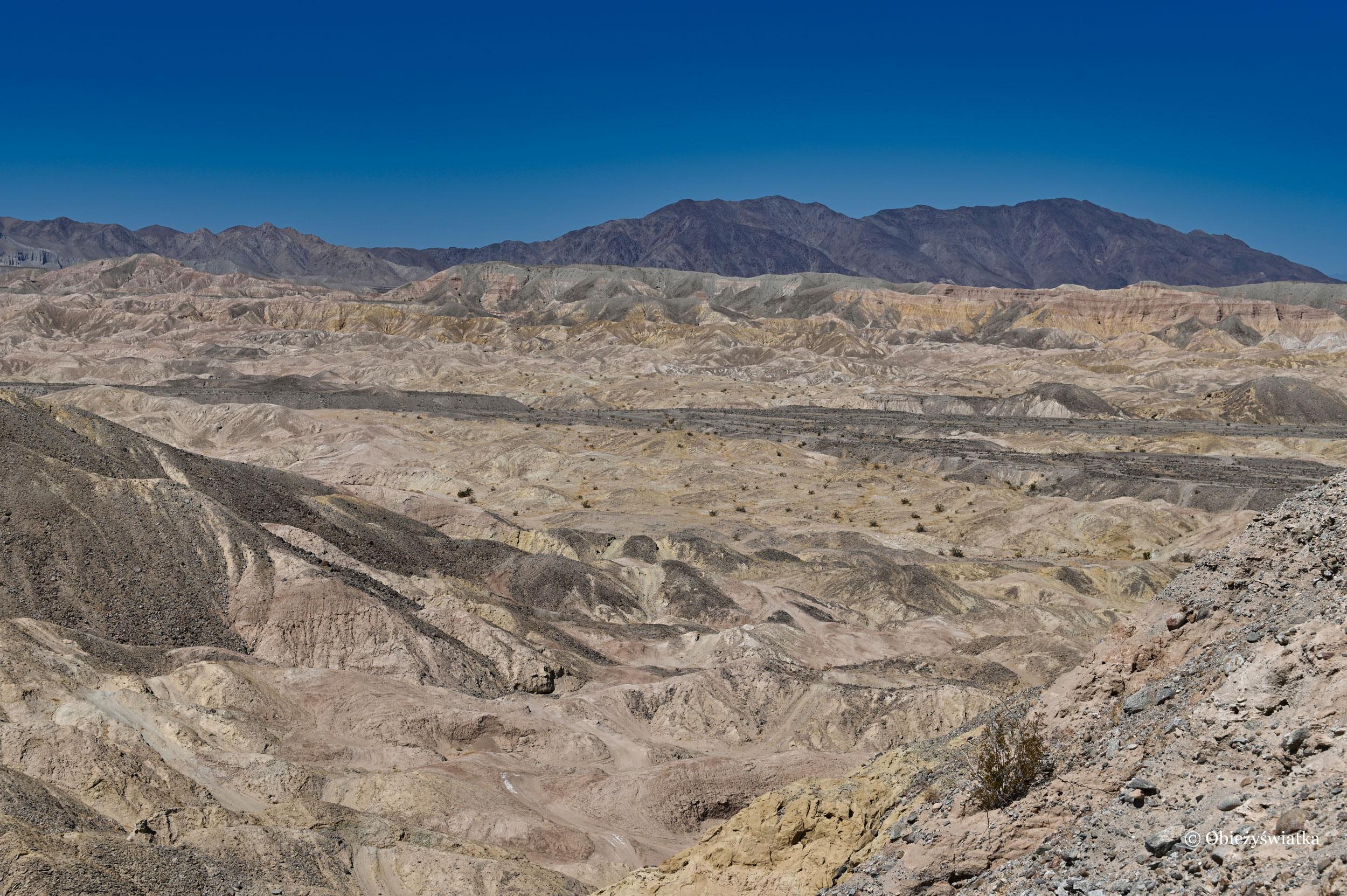 Piękny krajobraz Anza Borrego Desert State Park, Kalifornia