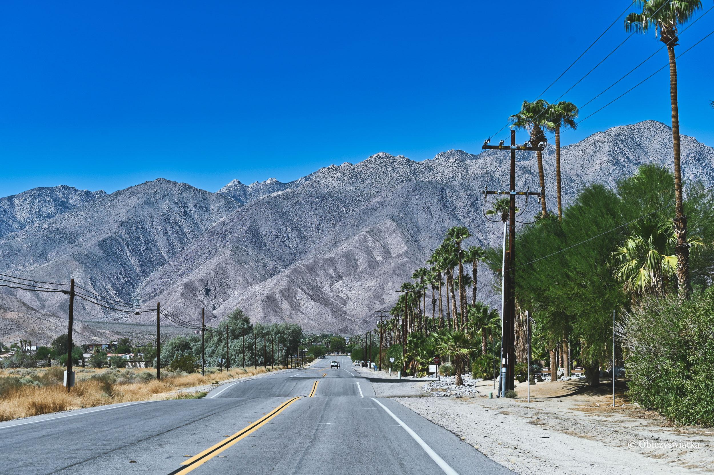 Palmy i góry - Borrego Springs, Kalifornia