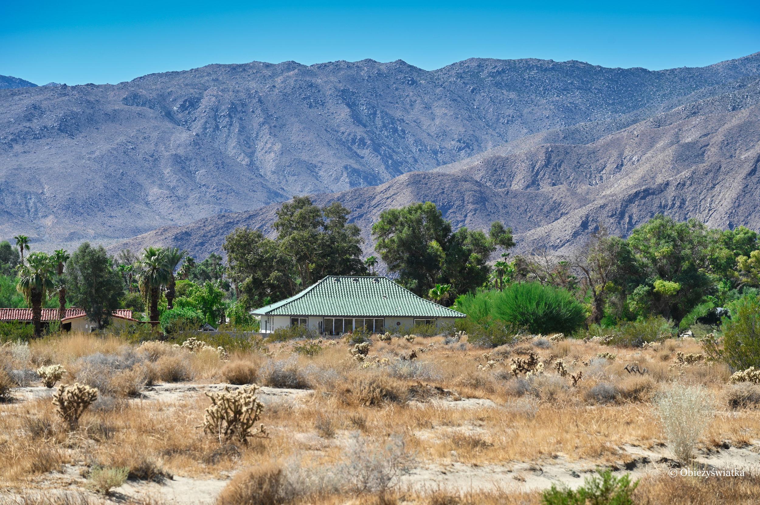 Jeden z domów w Borrego Springs