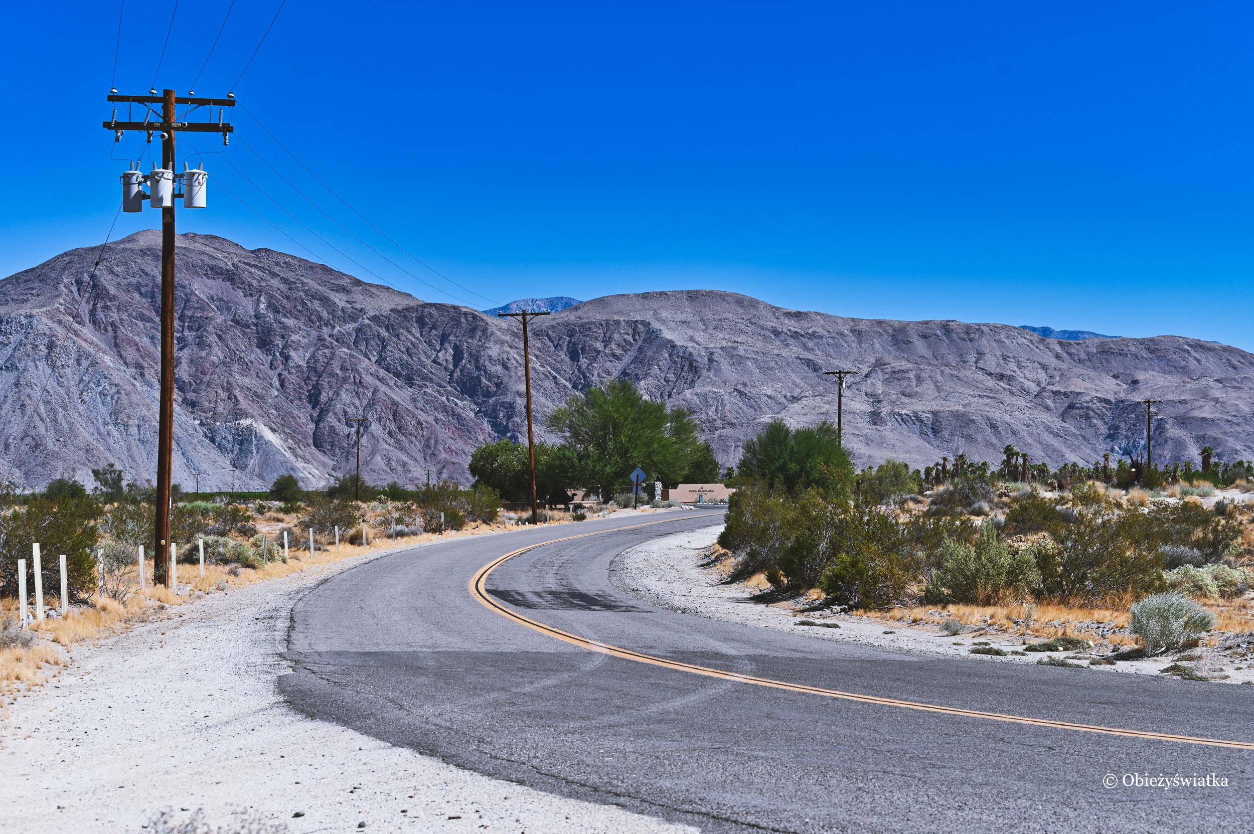 Droga w Borrego Springs
