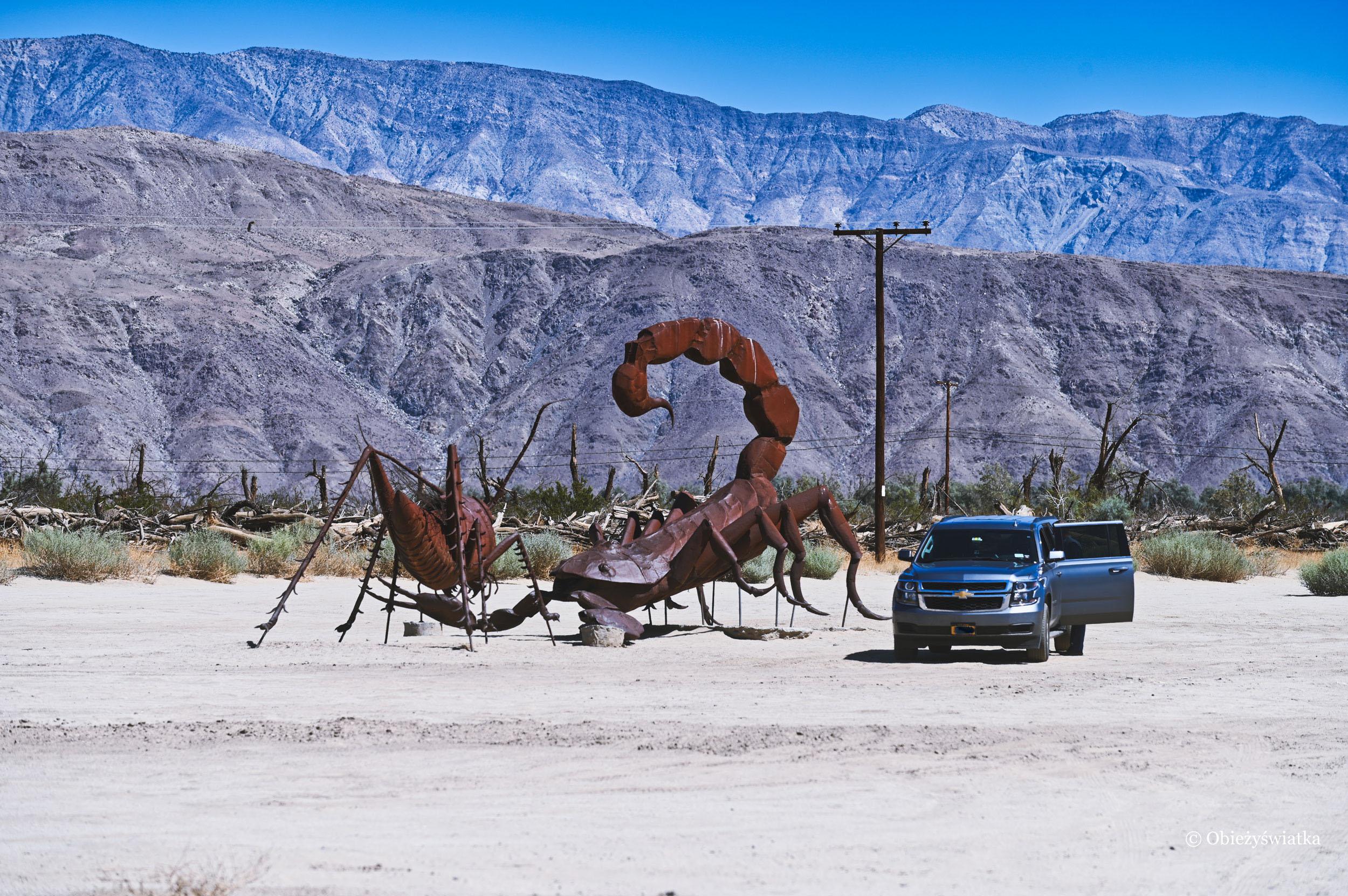 Ogromne rzeźby w Borrego Springs, USA