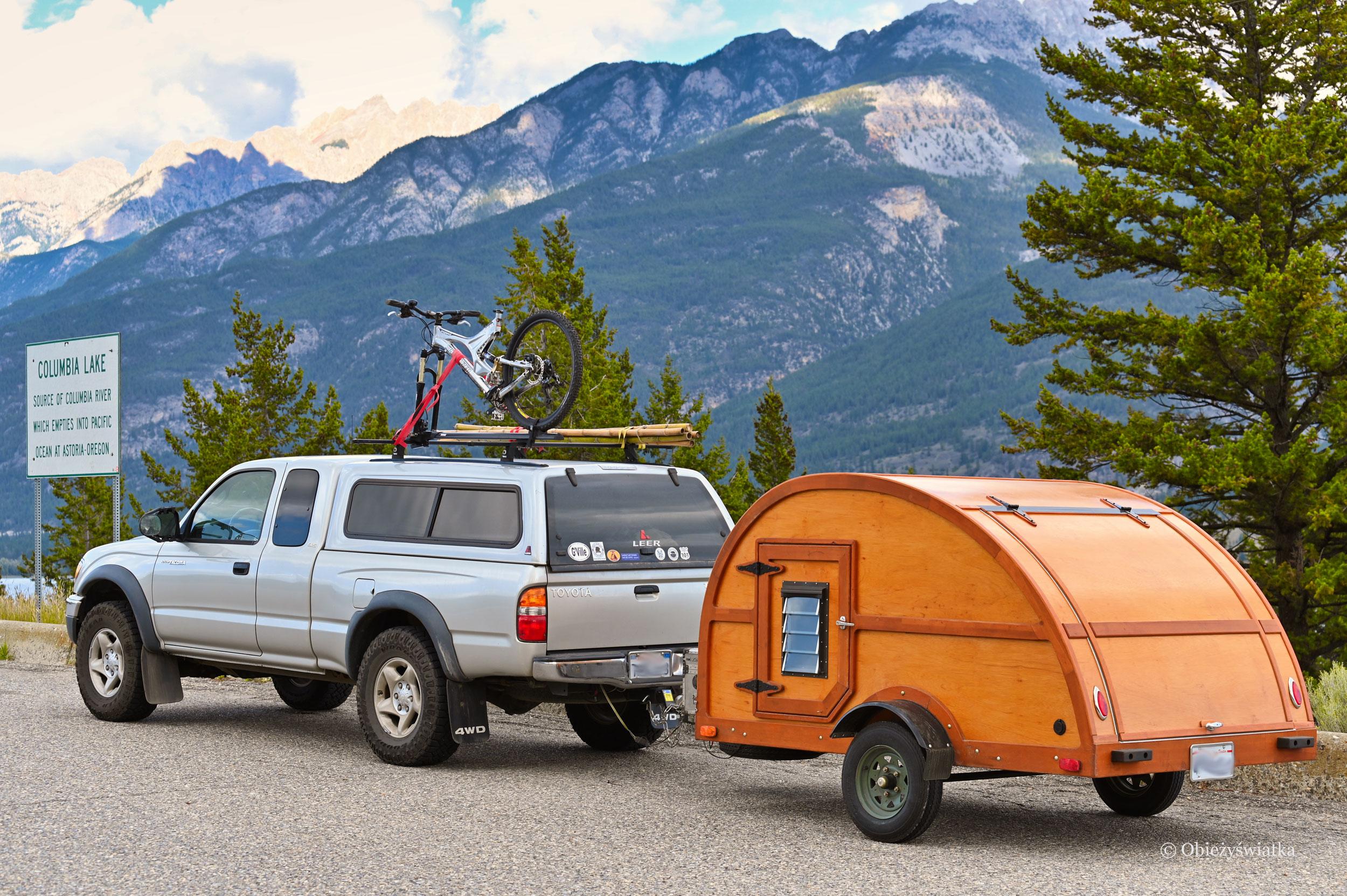 Camping, Columbia Lake, Canada