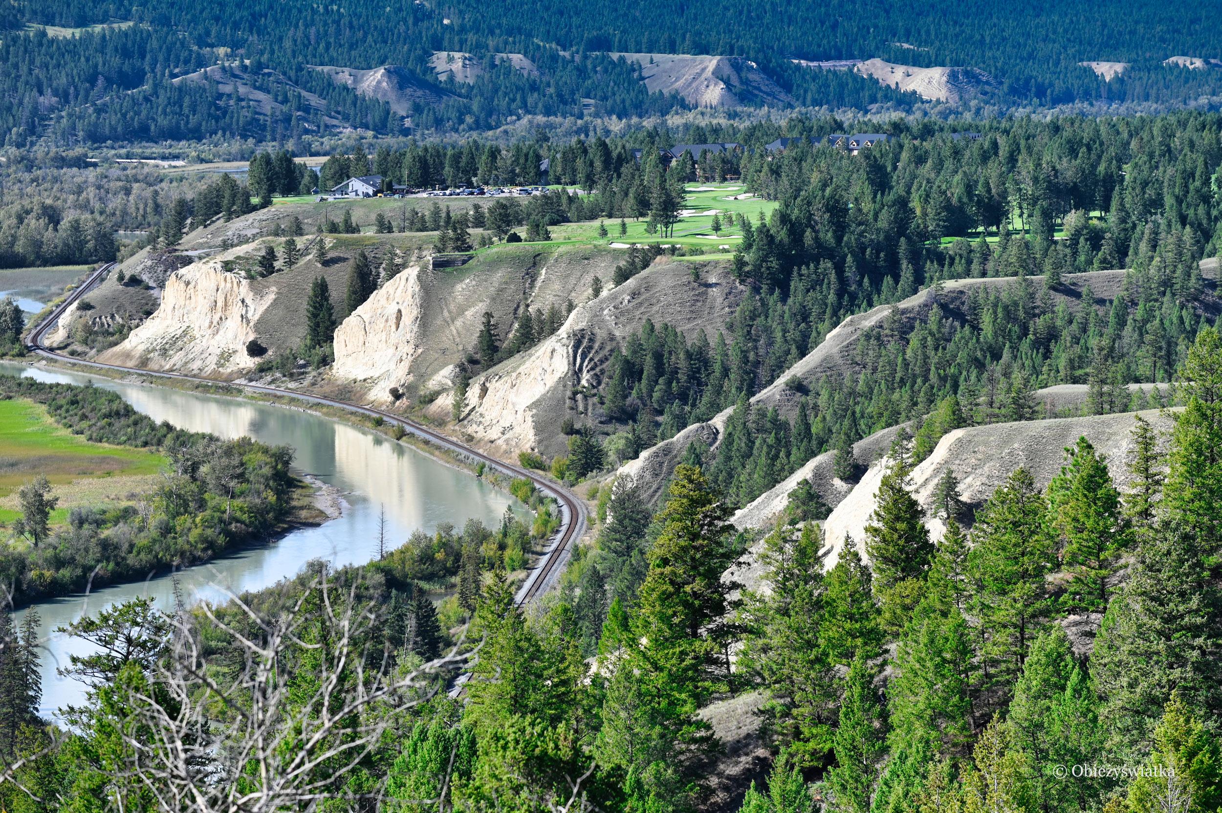 Malownicza rzeka Kolumbia w Kanadzie