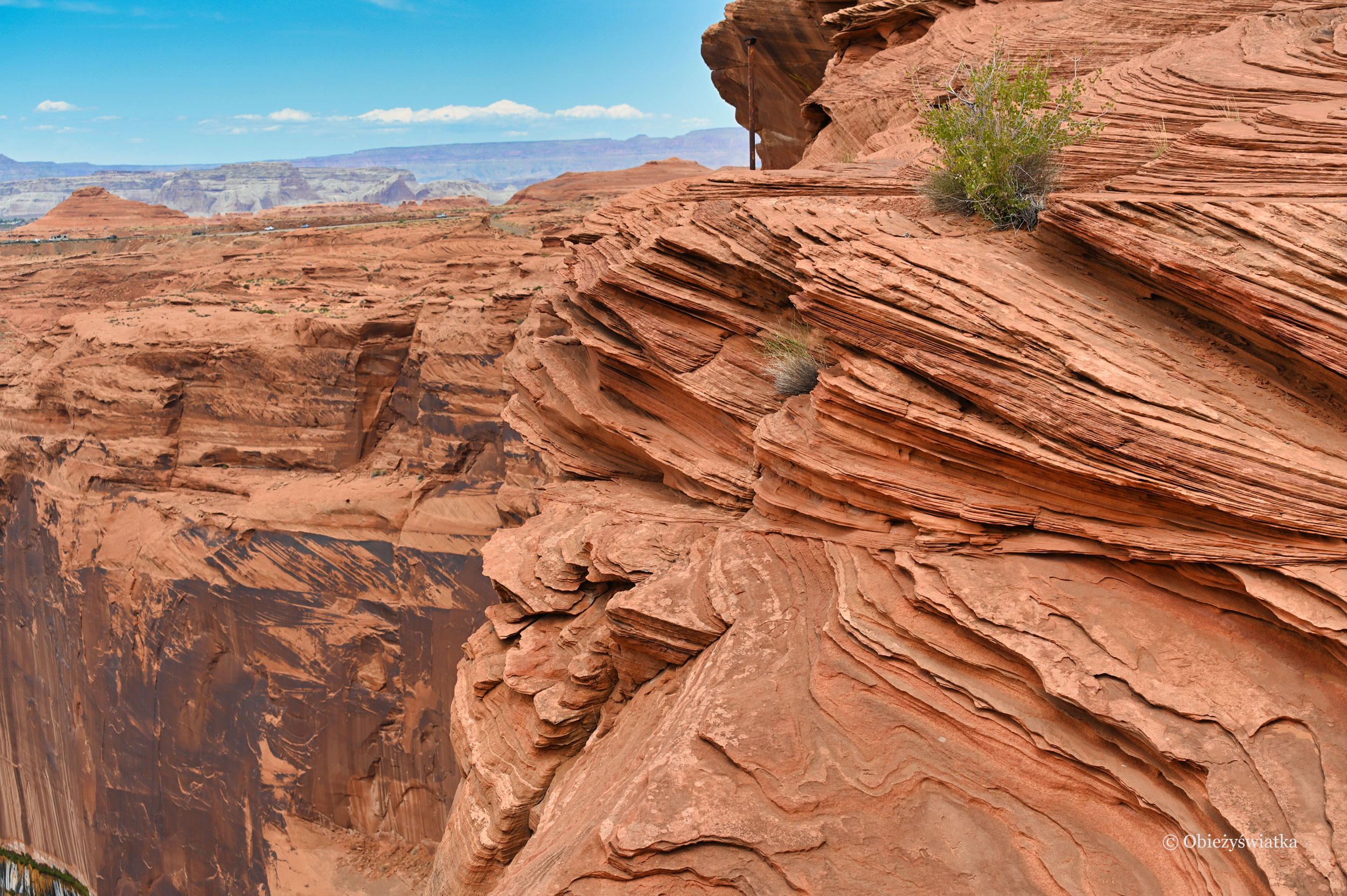 Rude skały Glen Canyon