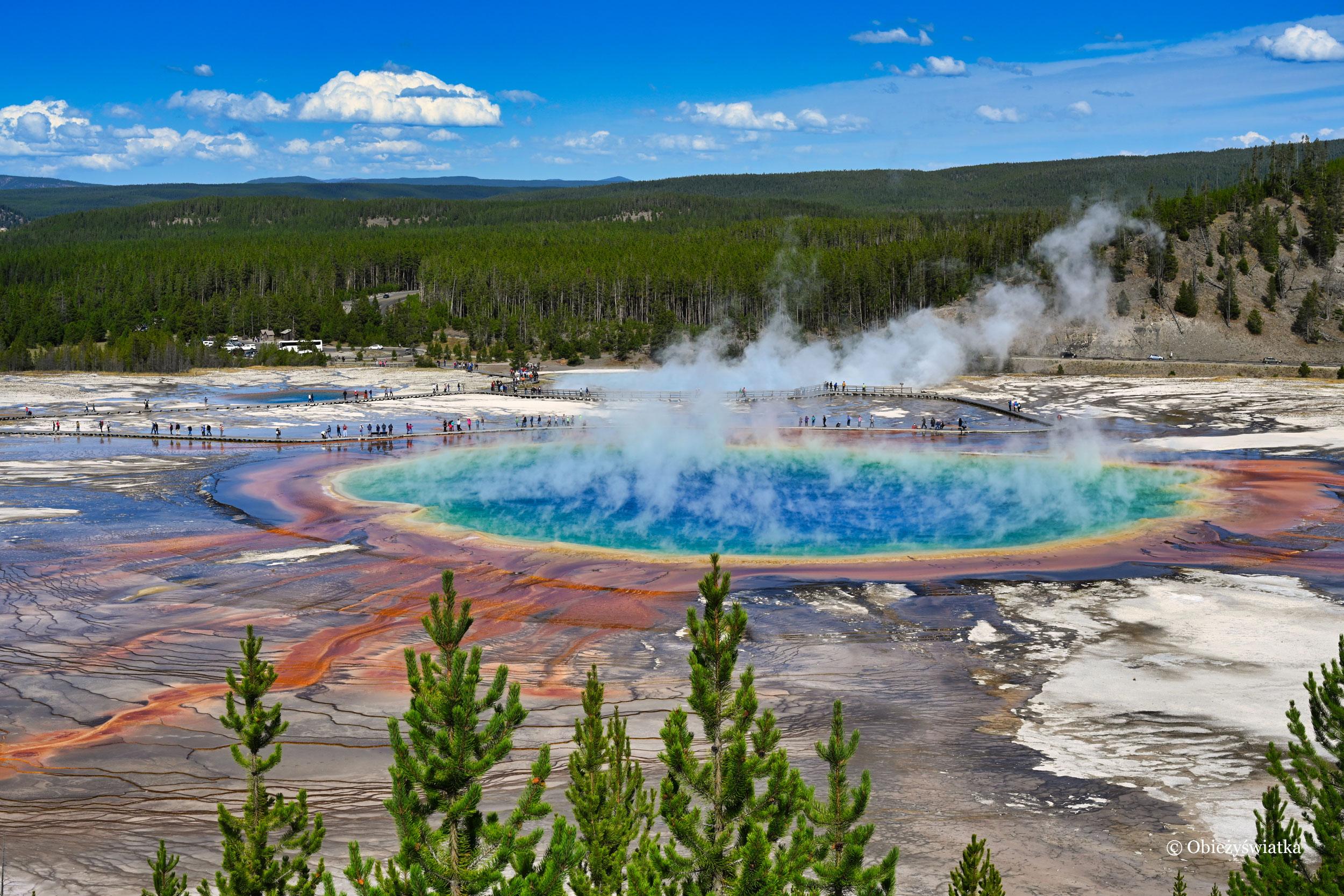Feeria kolorów - Grand Prismatic Spring, Park Narodowy Yellowstone