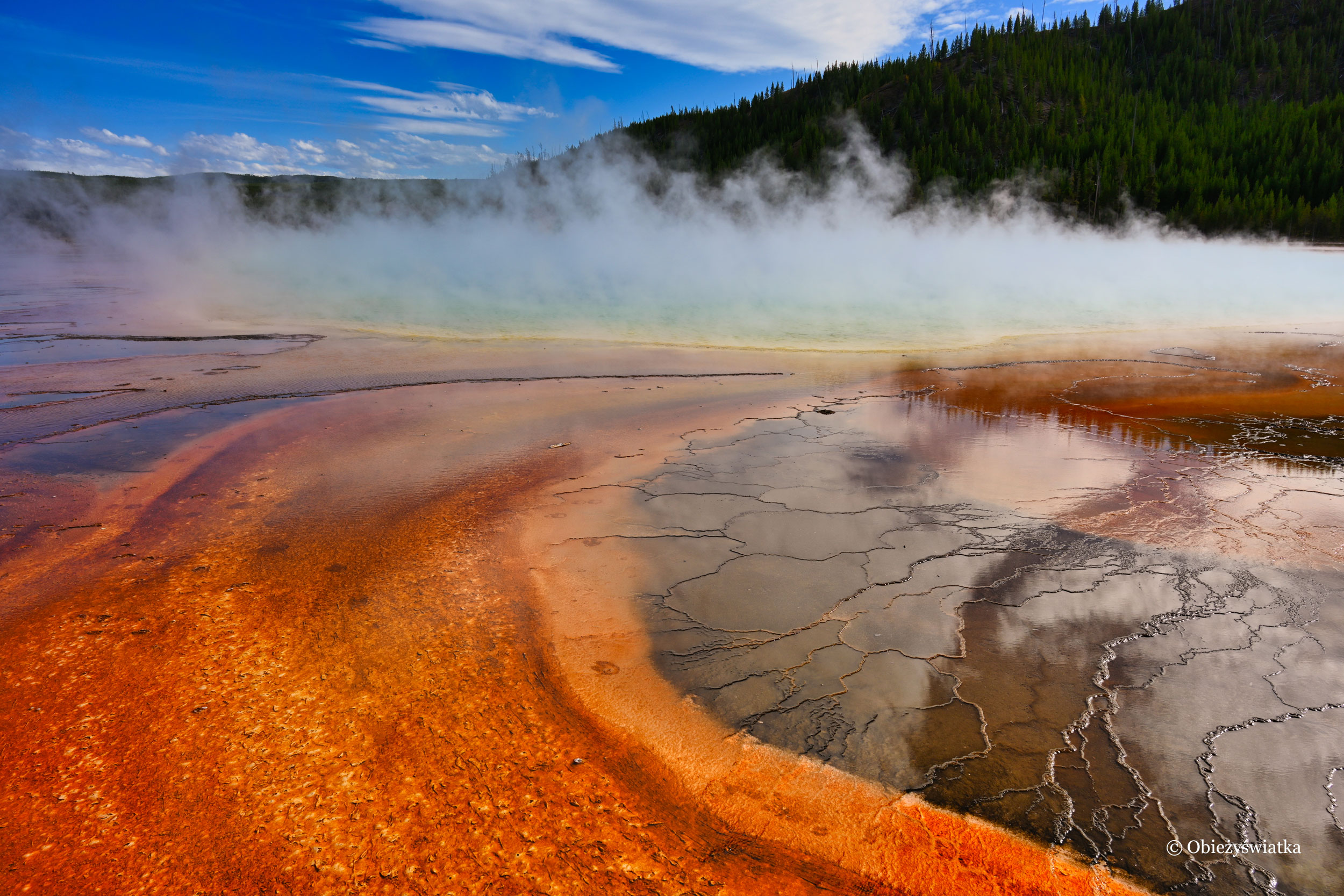 Z bliska - Grand Prismatic Spring, Yellowstone