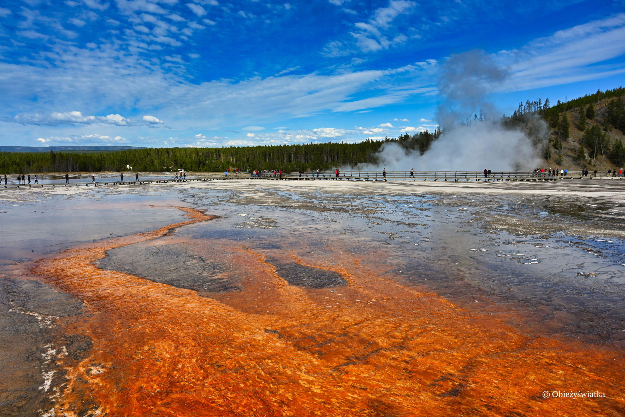 Jezioro Grand Prismatic Spring, Yellowstone