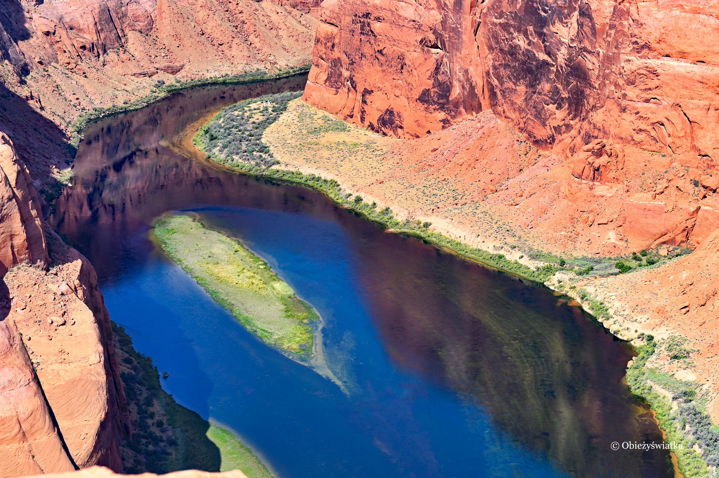 Widok na rzekę Kolorado w Kanionie Glen, Arizona