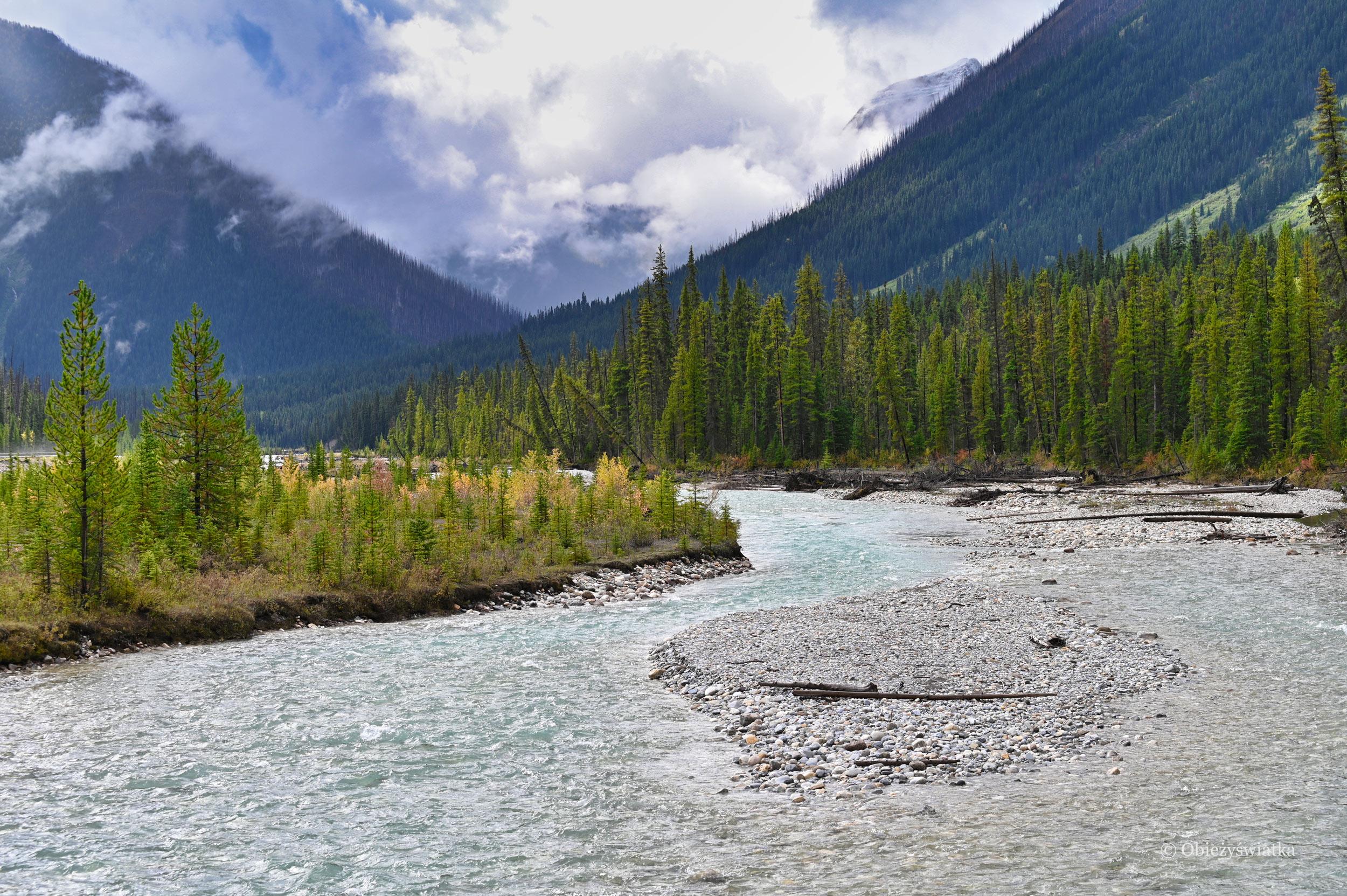 Góry, górskie rzeki i Park Narodowy Kootenay, Kanada