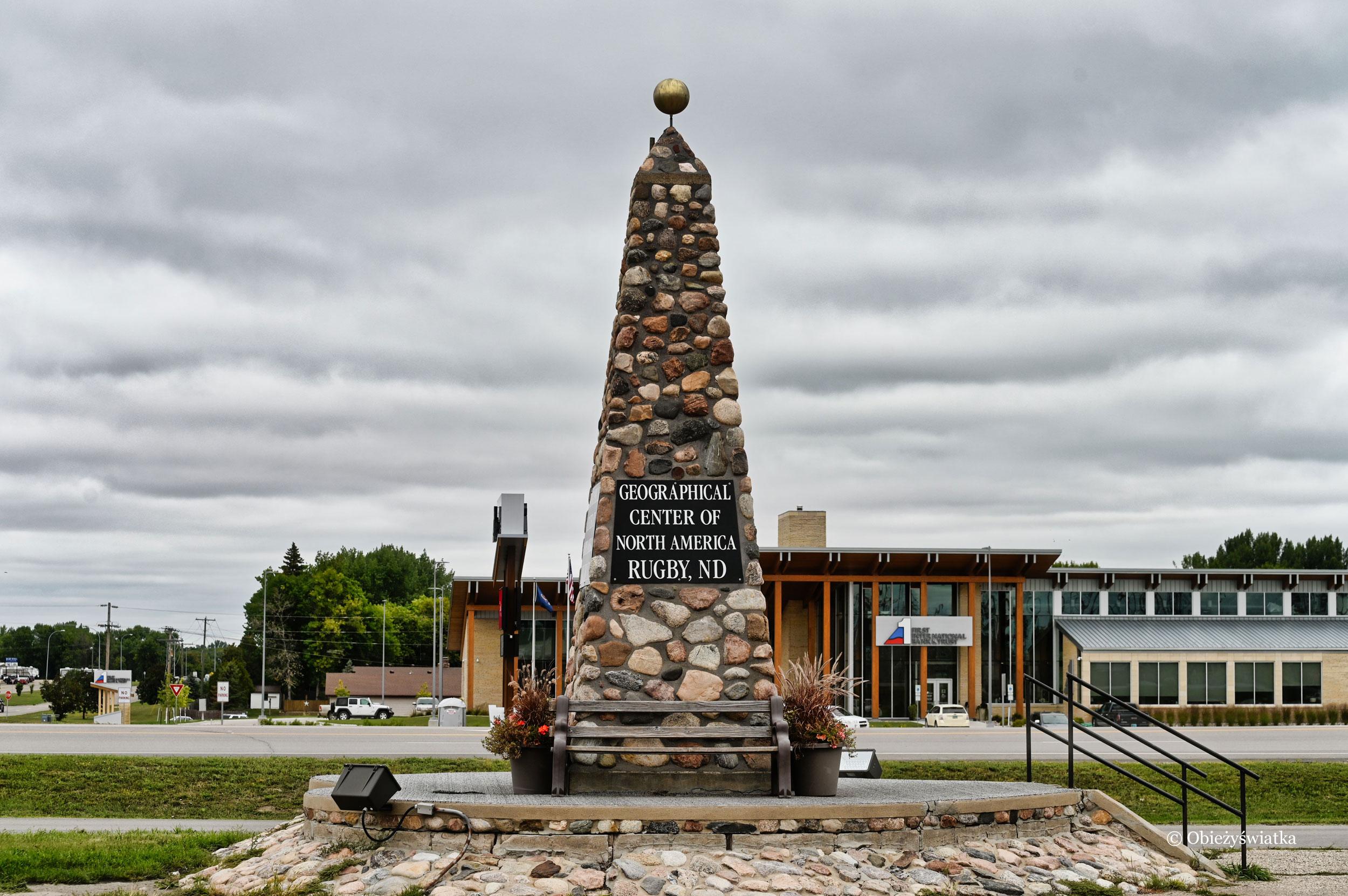 Geograficzny środek Ameryki Północnej w Rugby, Dakota Północna
