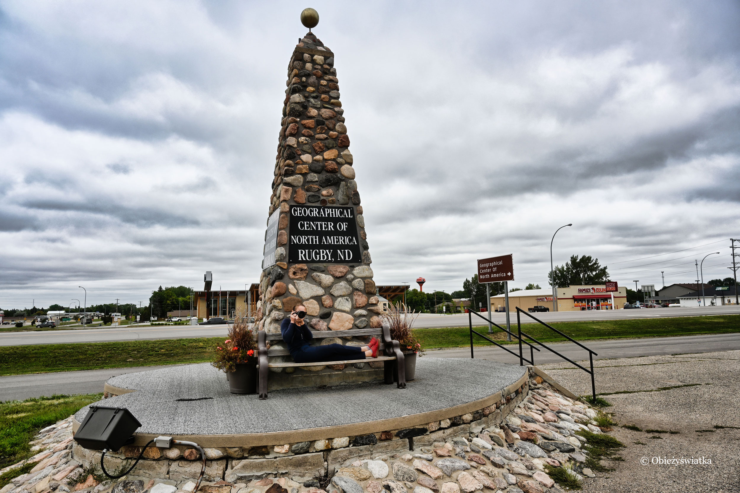 Geographical Center of North America in Rugby, ND
