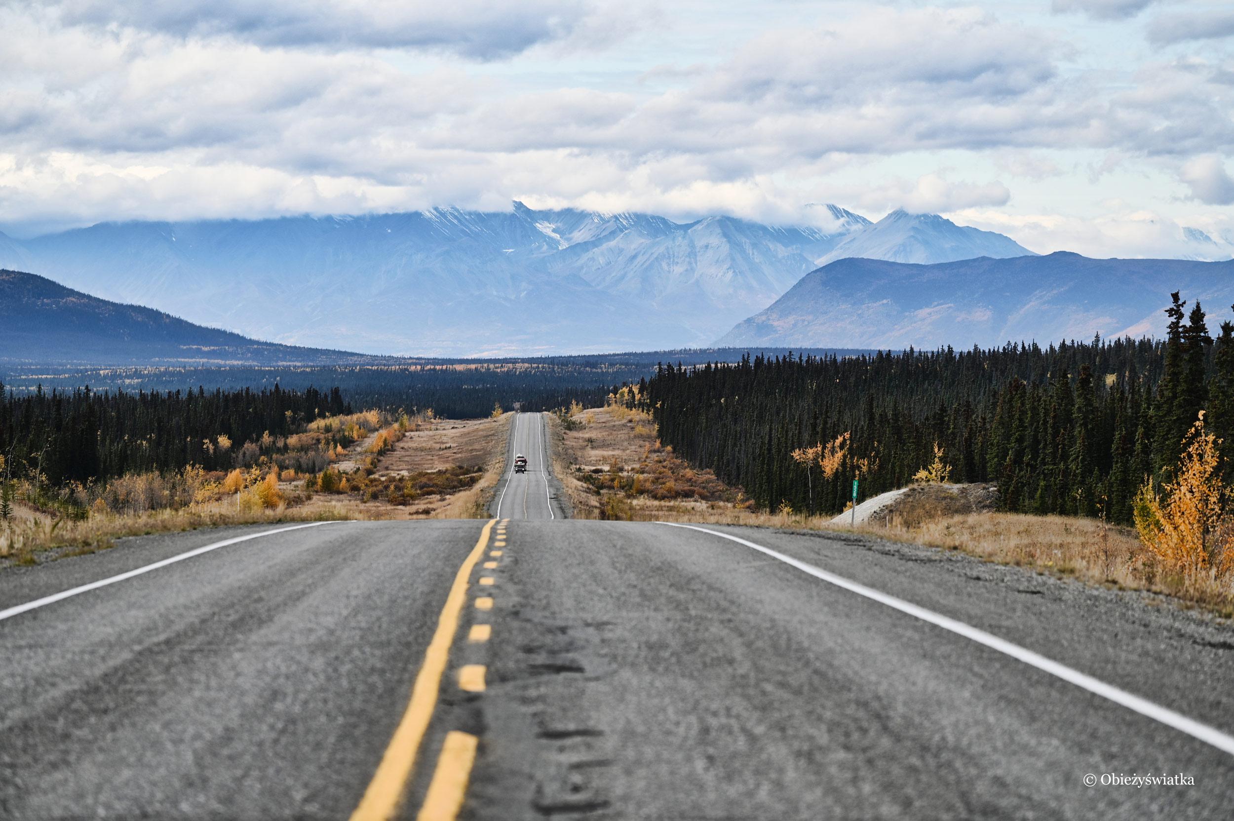 W drodze do Parku Narodowego Kluane w Kanadzie