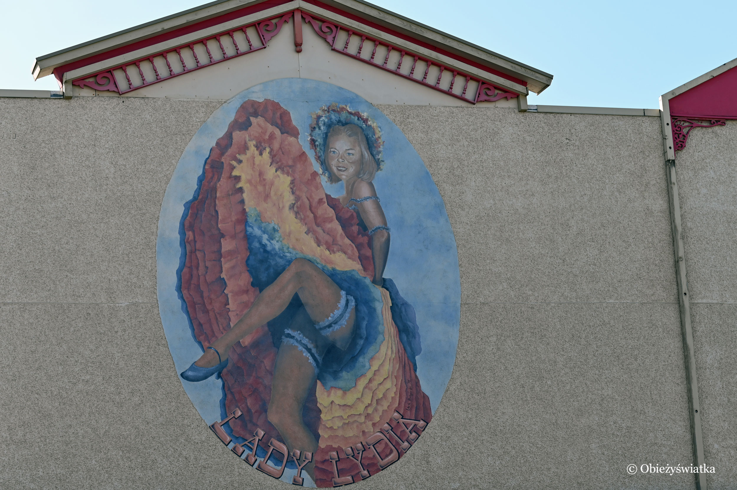 Jeden z murali w Whitehorse, Kanada