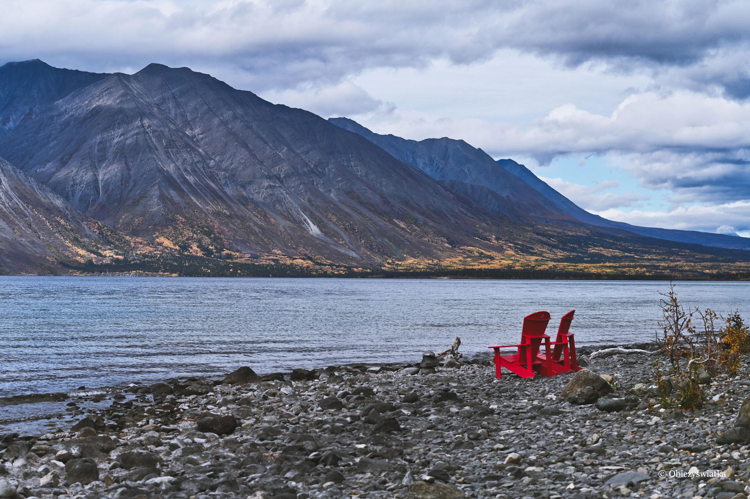 Nad Kathleen Lake, Park Narodowy Kluane, Kanada