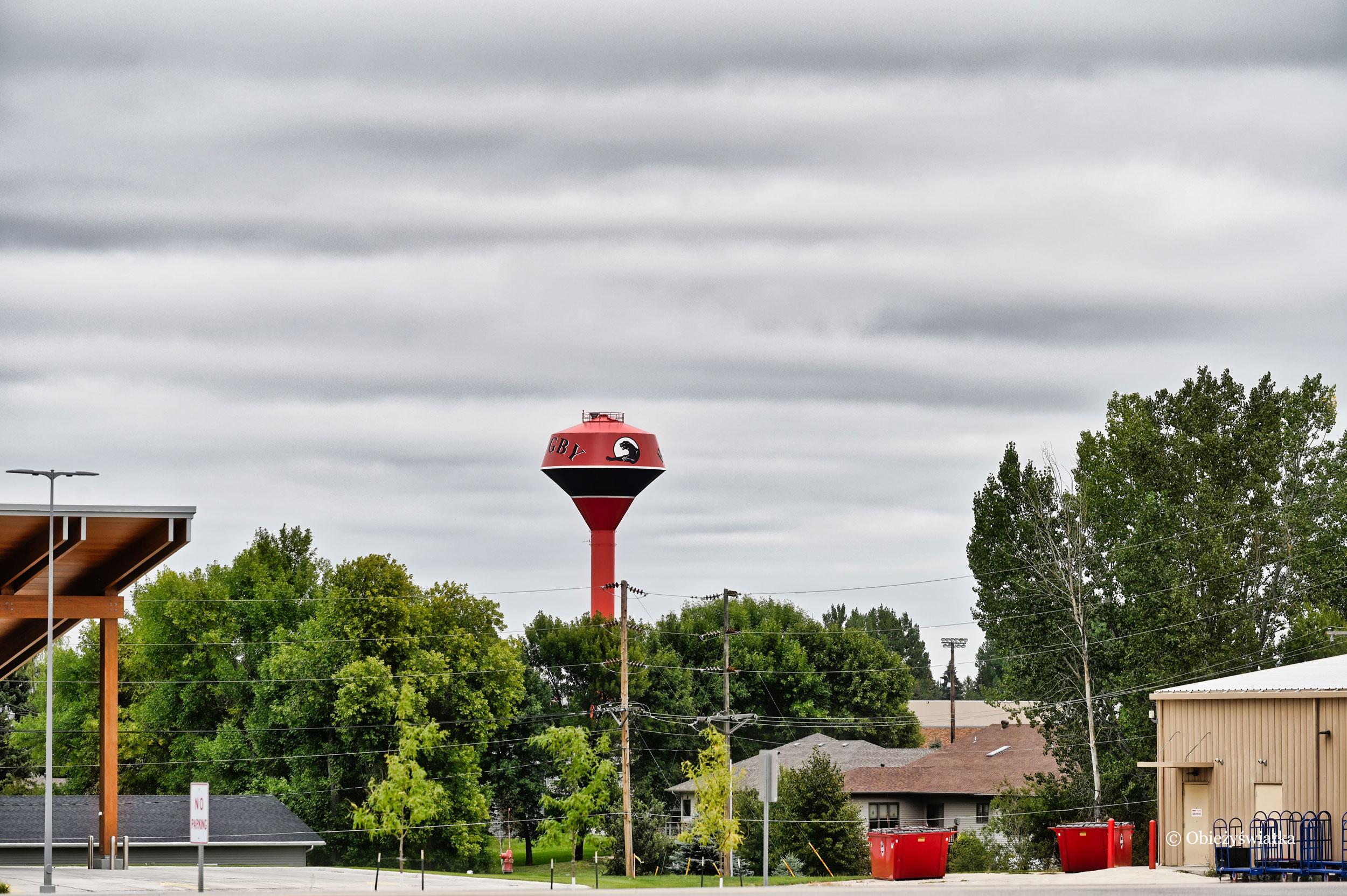 Wieża cieśnień w Rugby, Dakota Północna
