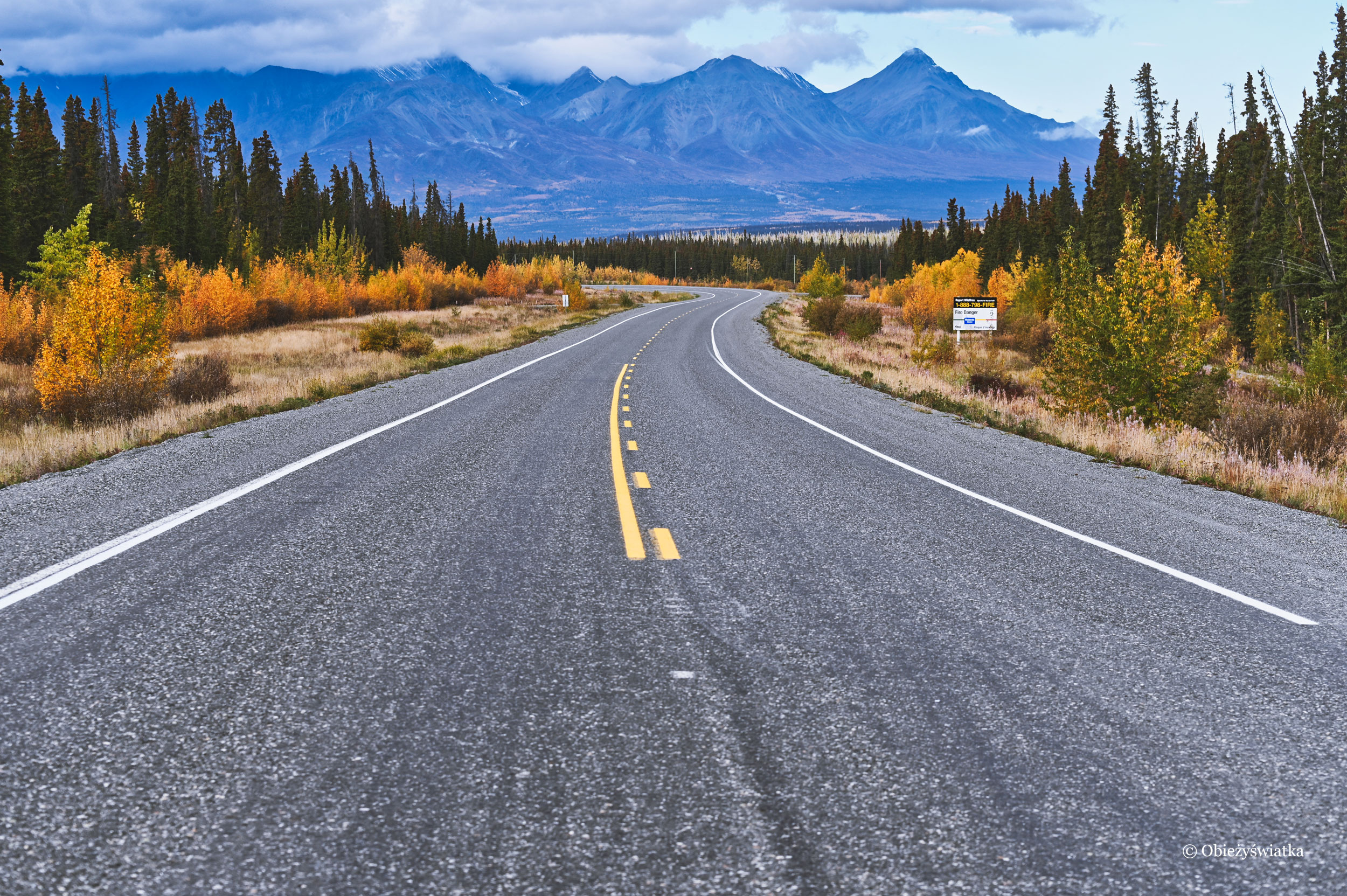 W drodze do Parku Narodowego Kluane, Kanada