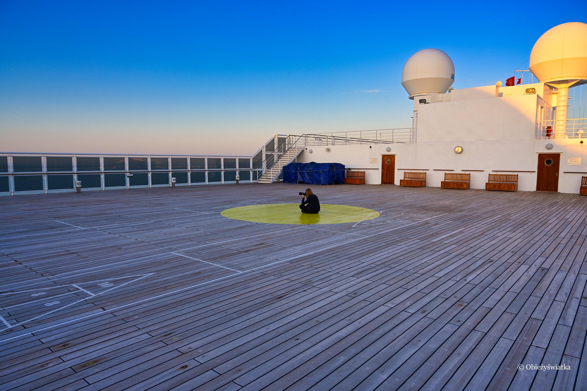Mój ulubiony pokład na statku Queen Mary 2