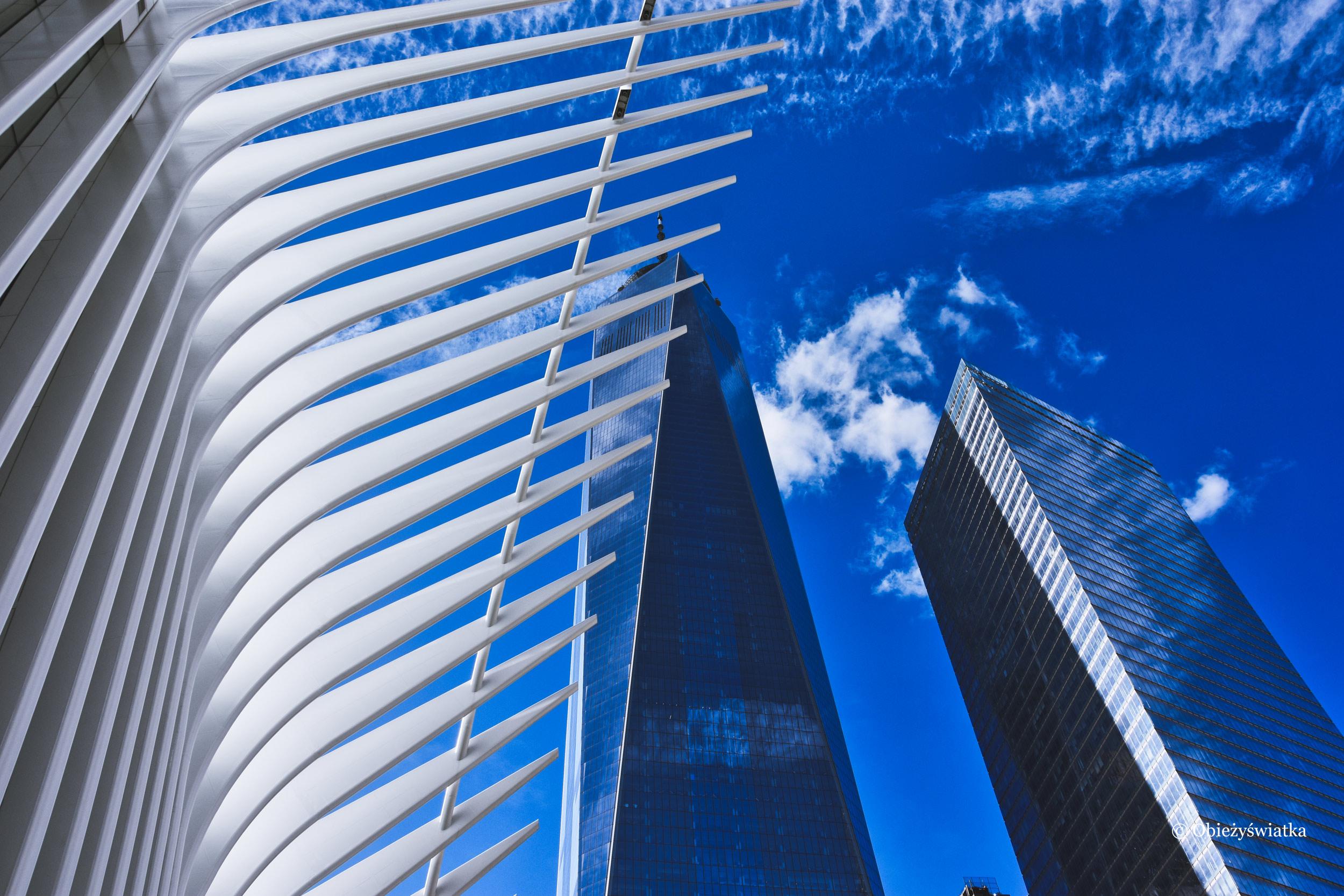 Dach stacji metra przy One World Trade Center, NYC