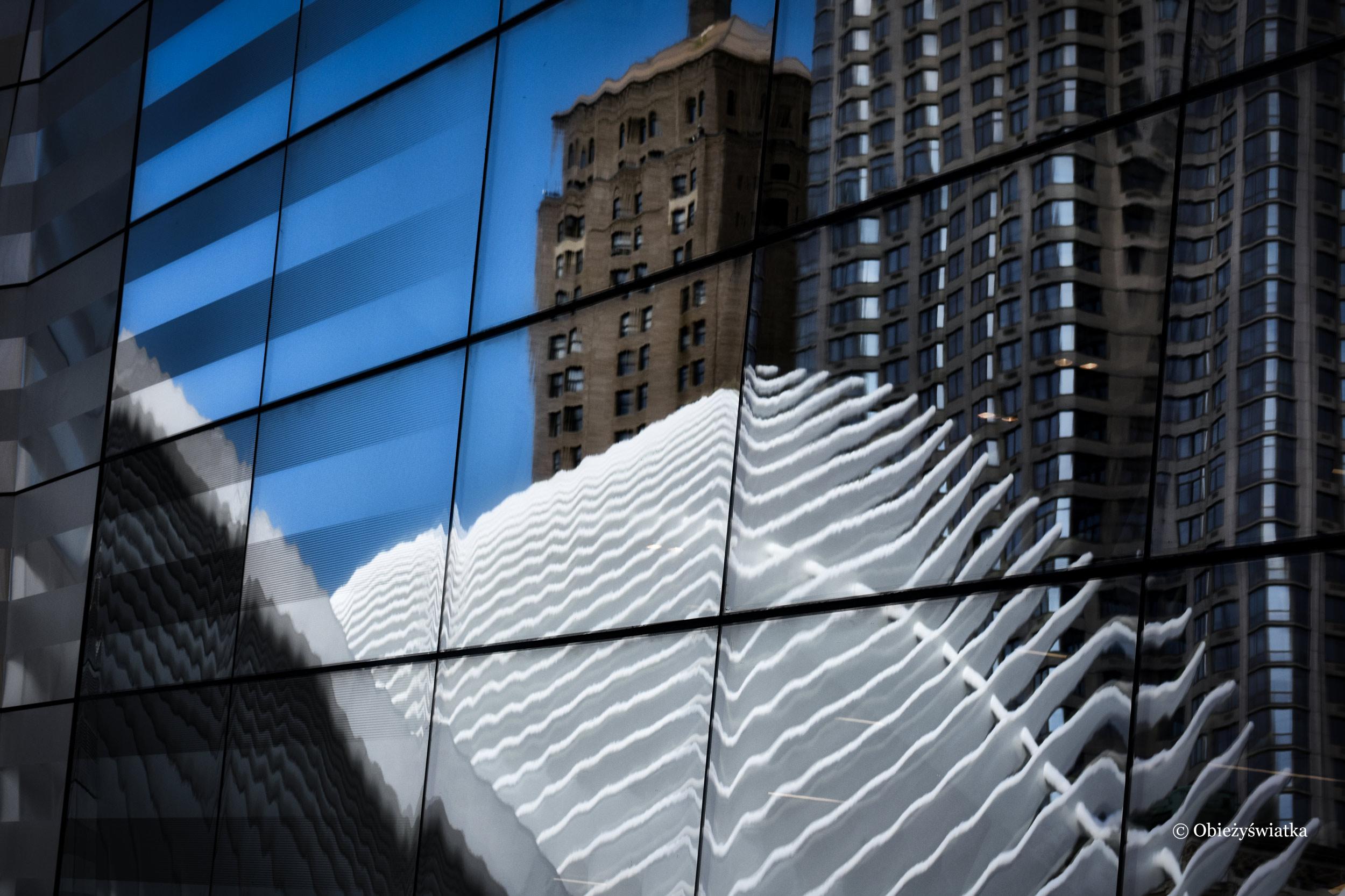 Budowla Calatravy i nowojorskie wieżowce