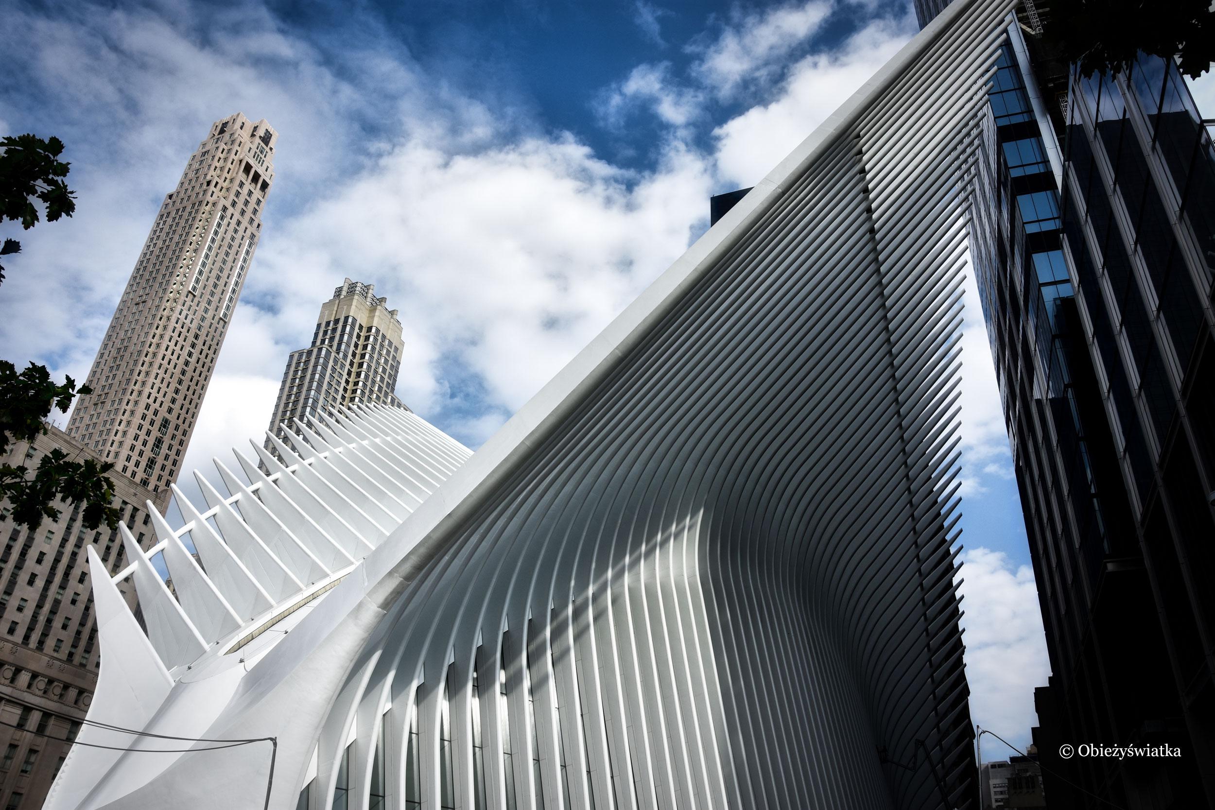 Dzieło Santiago Calatravy, stacja metra przy World Trade Center, Nowy Jork