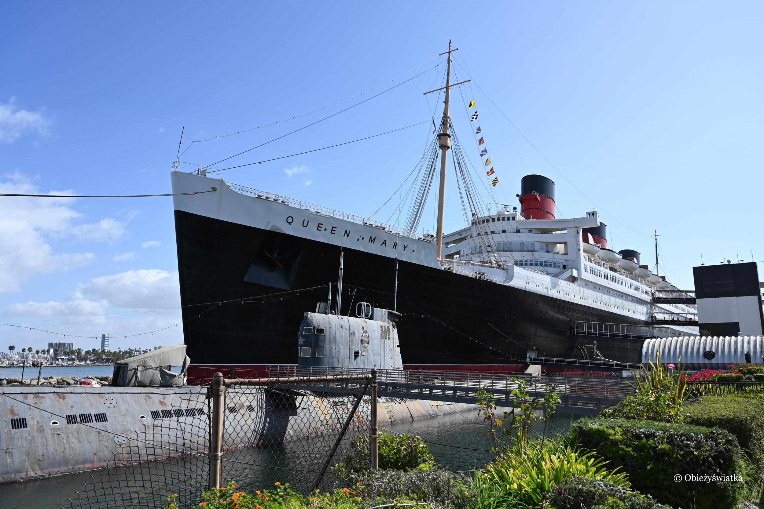 Pierwszy transatlantyk Queen Mary 2 z 1936 roku - dzisiaj jako hotel w Long Beach, Kalifornia, USA