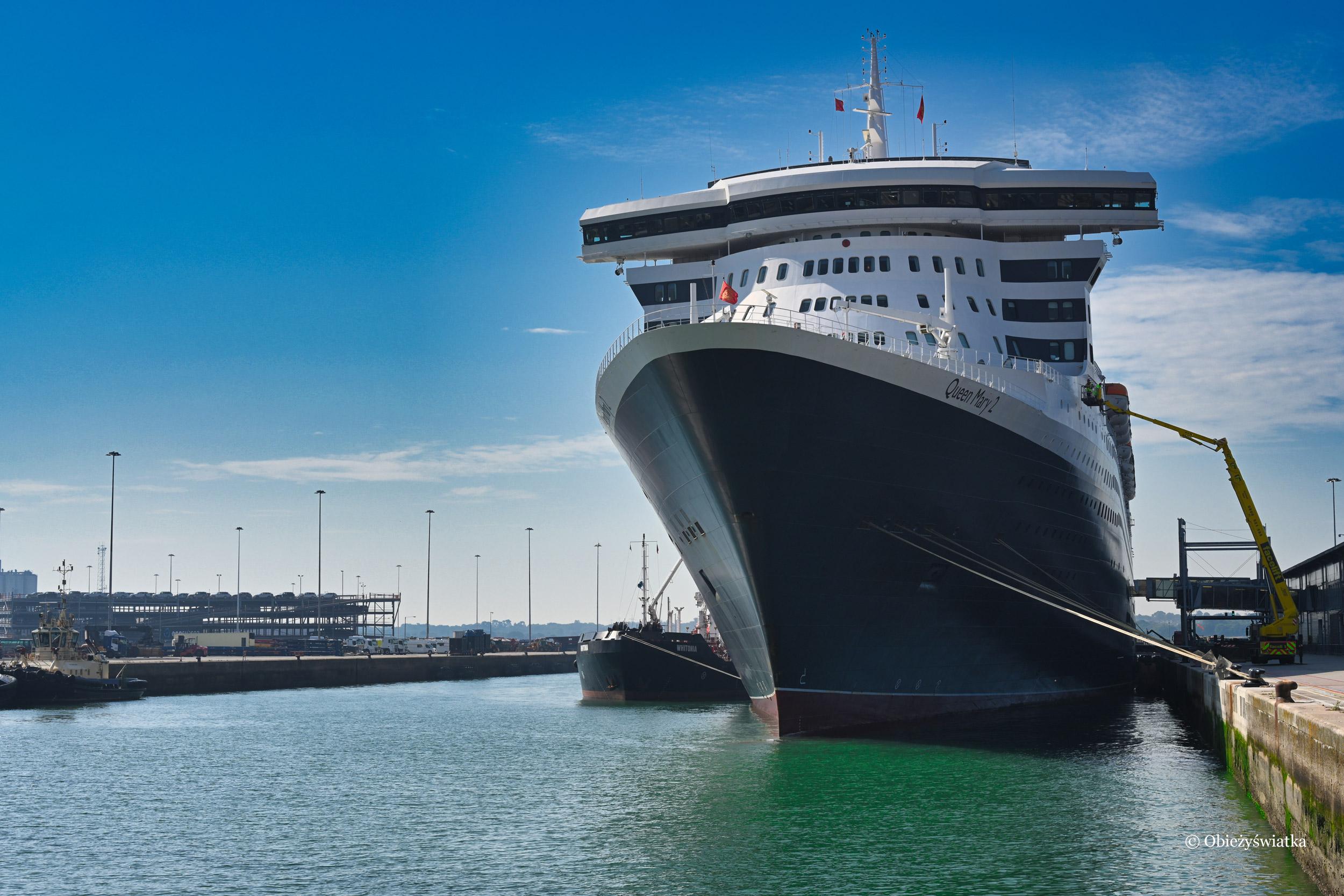 Queen Mary 2 w Southampton, Wielka Brytania 2019