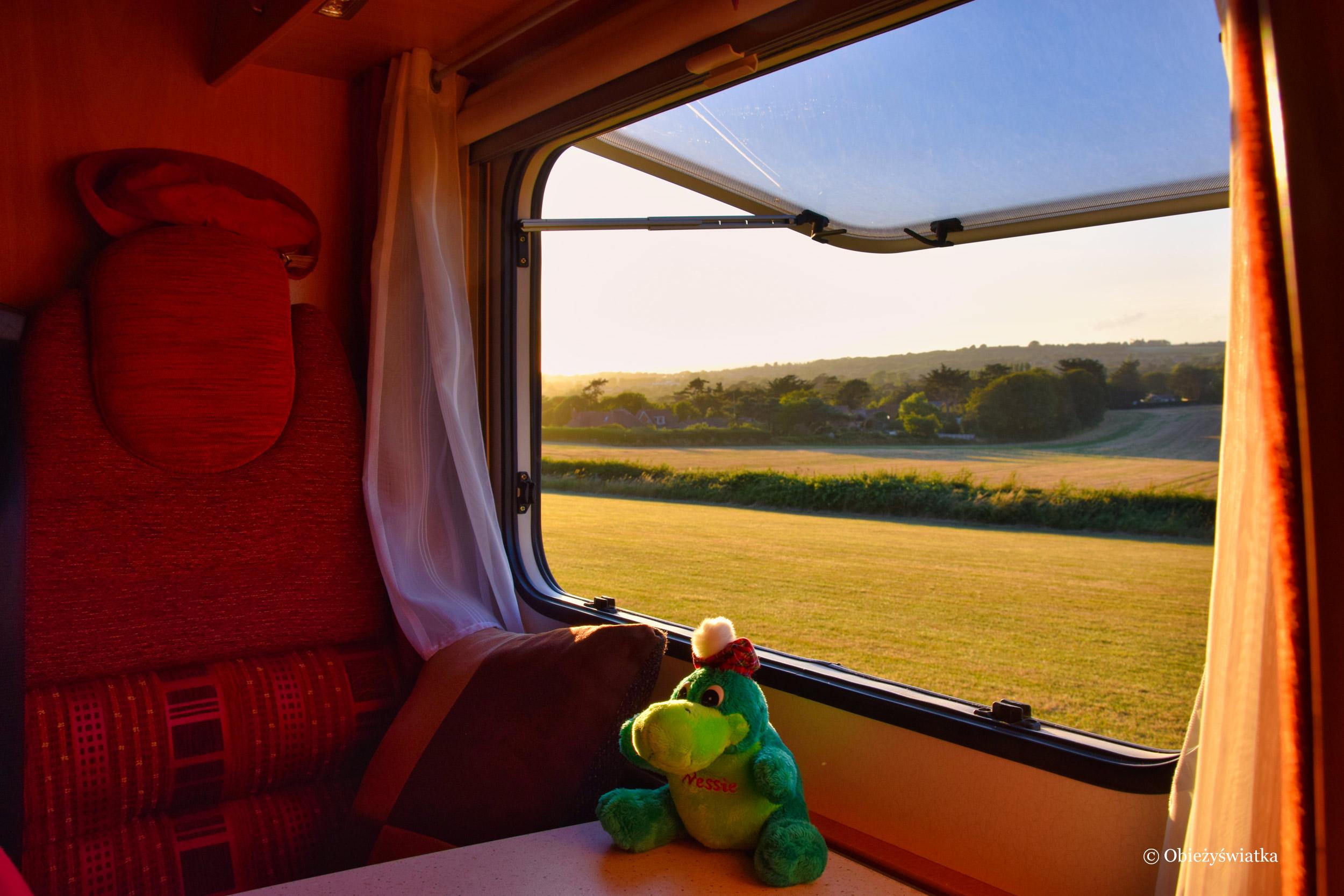 Isle of Wight i widok z kampera