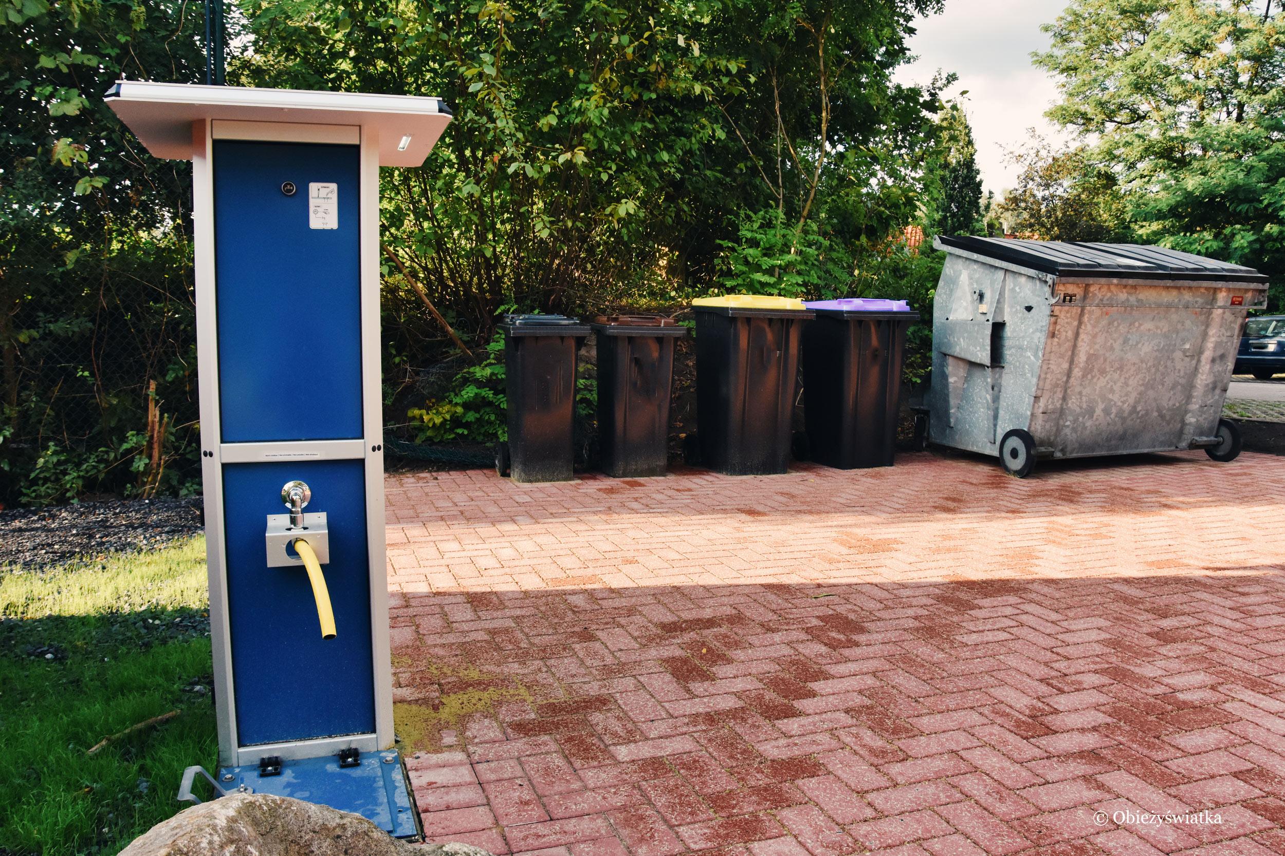 Przykładowa kolumna sanitarna dla kamperów